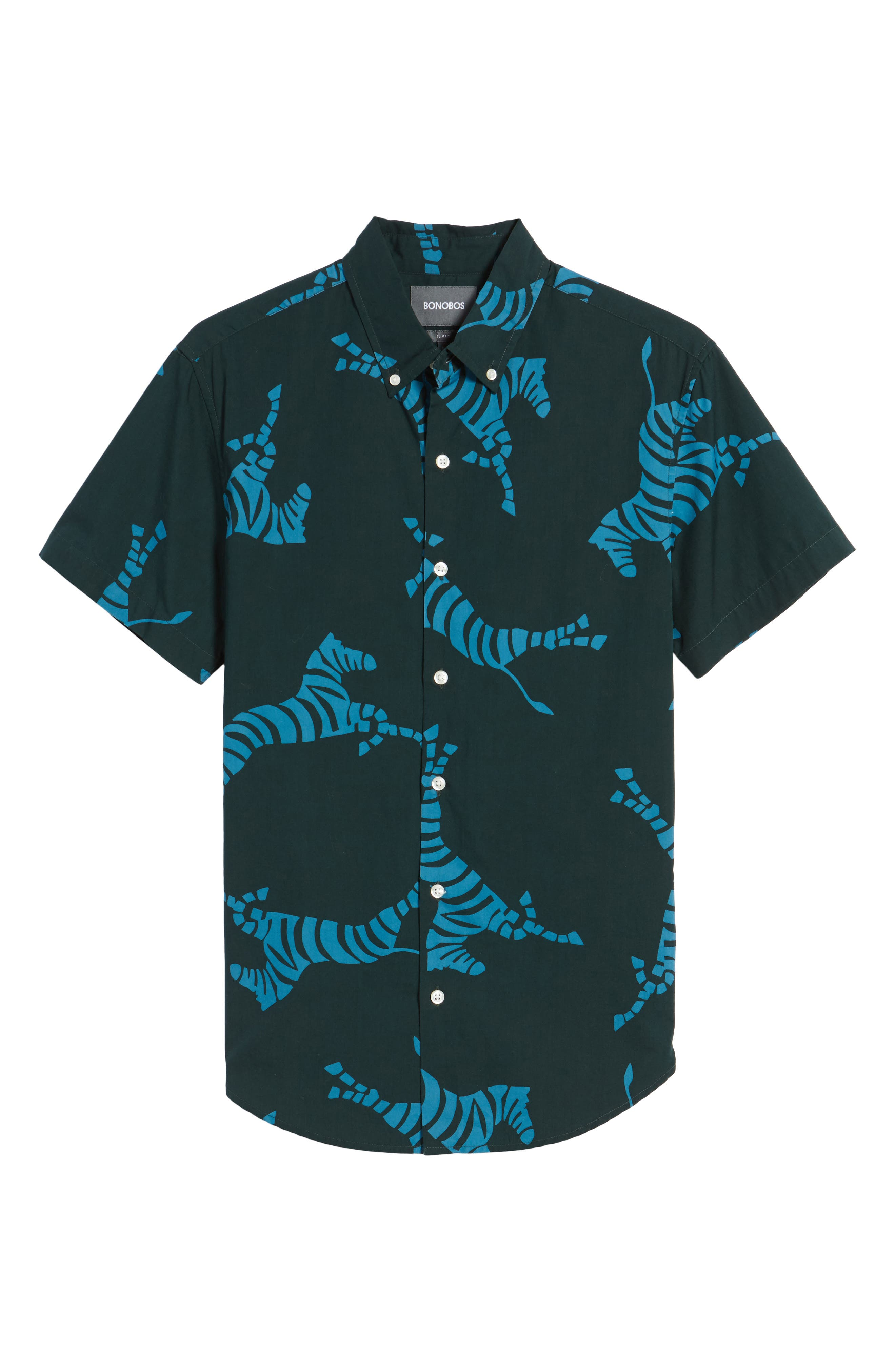 Alternate Image 6  - Bonobos Slim Fit Zebra Sport Shirt