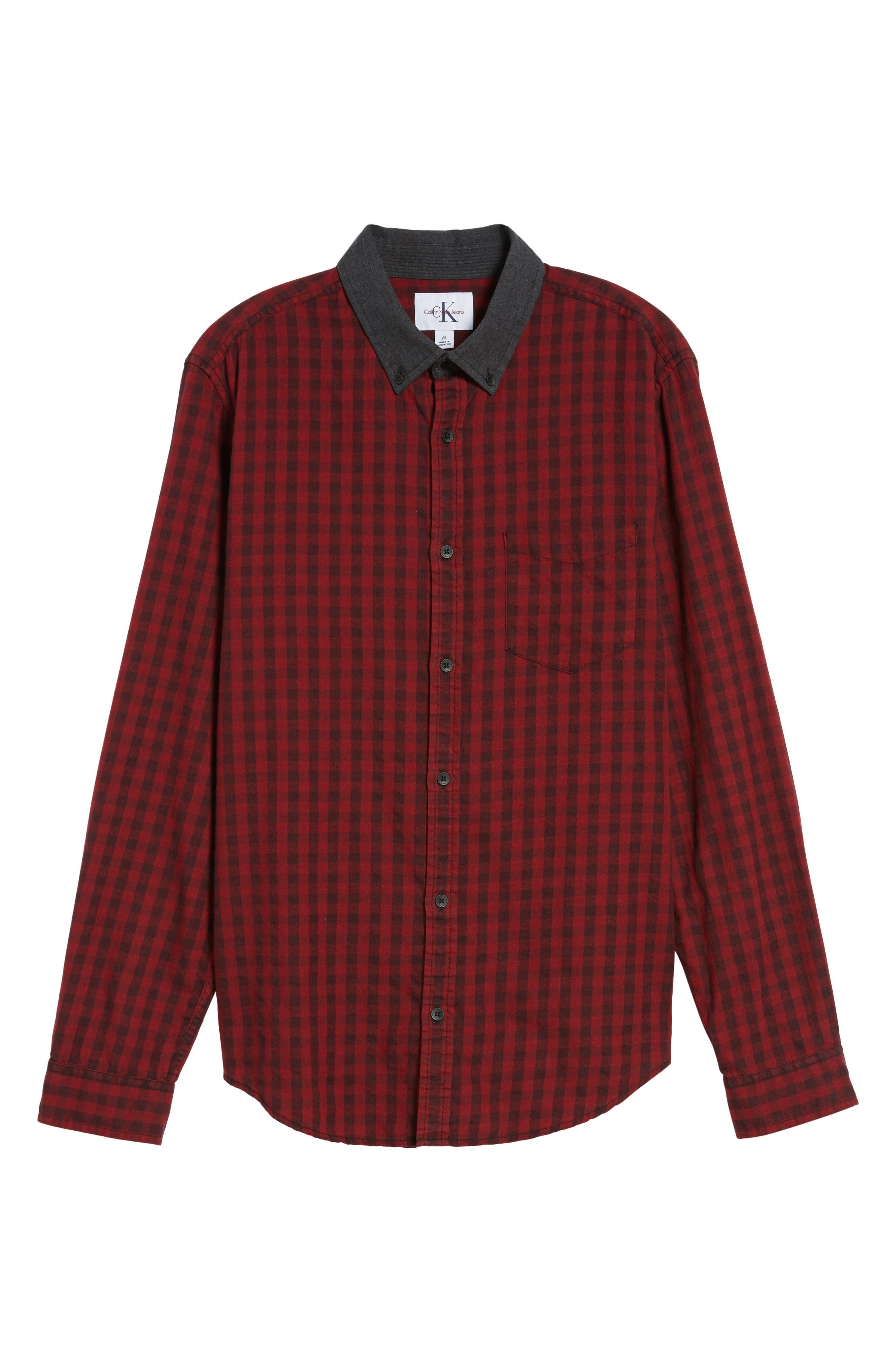 Alternate Image 6  - Calvin Klein Jeans Barn Flannel Shirt
