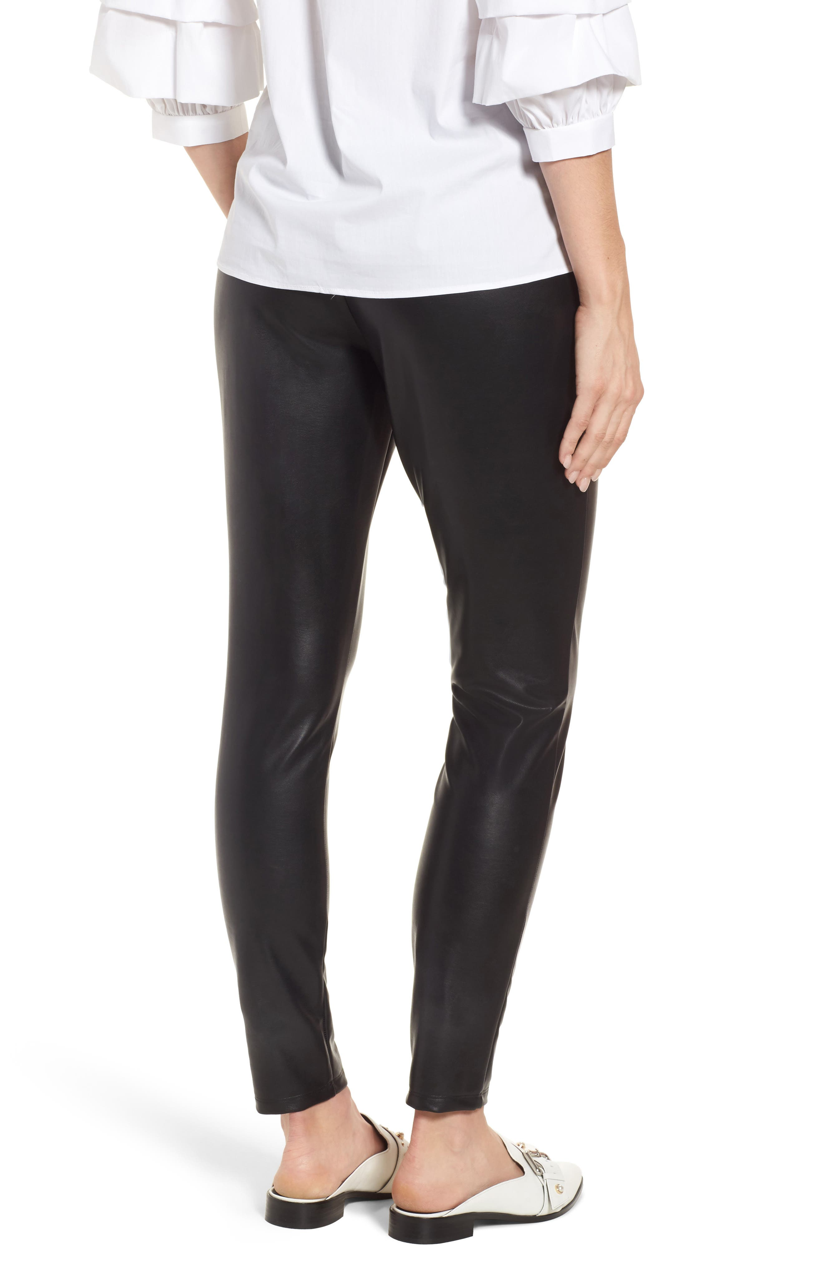 Alternate Image 2  - Leith High Waist Faux Leather Leggings