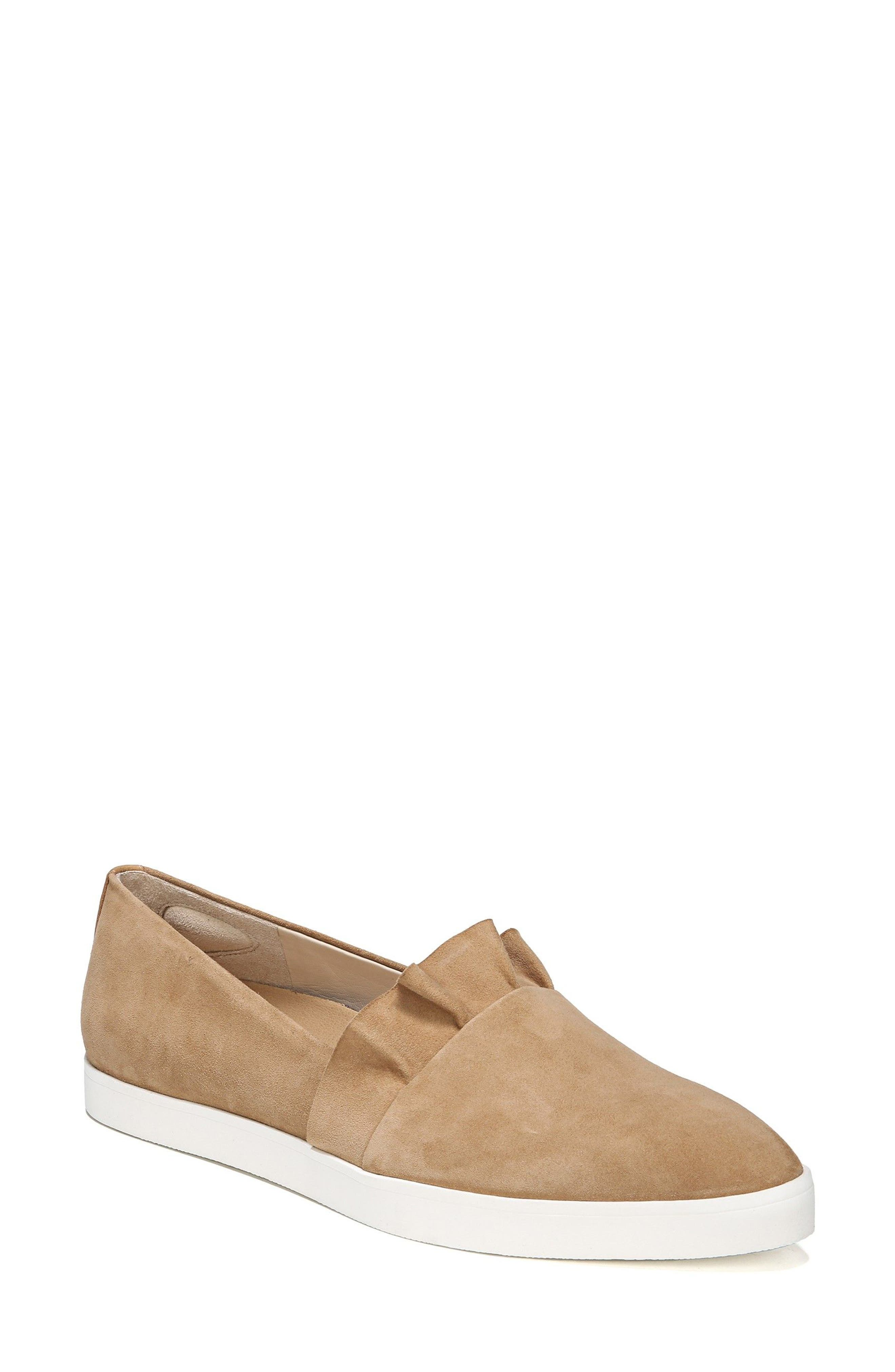 Vienna Slip-On Sneaker,                             Main thumbnail 1, color,                             Nude Suede