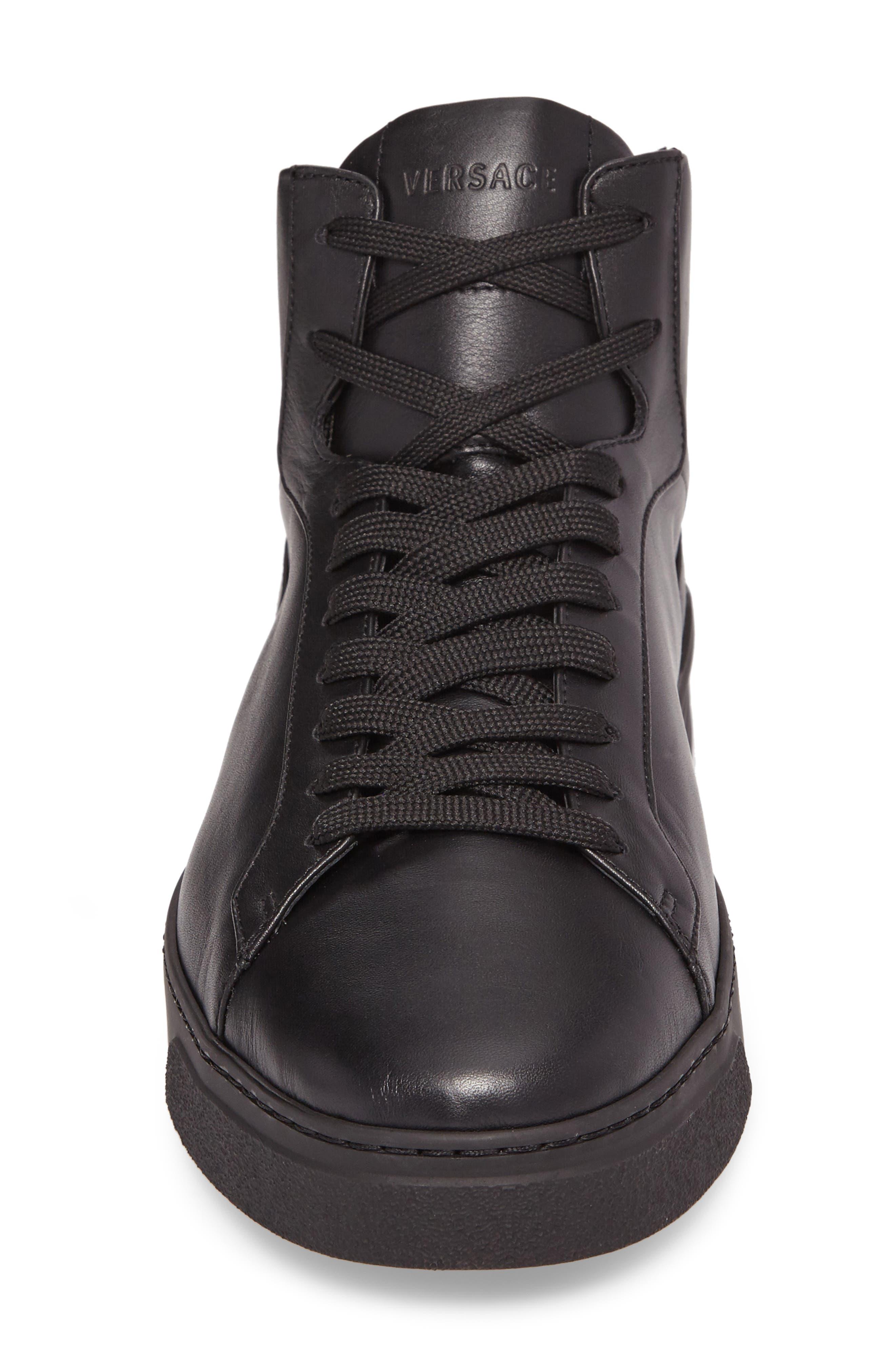 3D Medusa Sneaker,                             Alternate thumbnail 4, color,                             Black