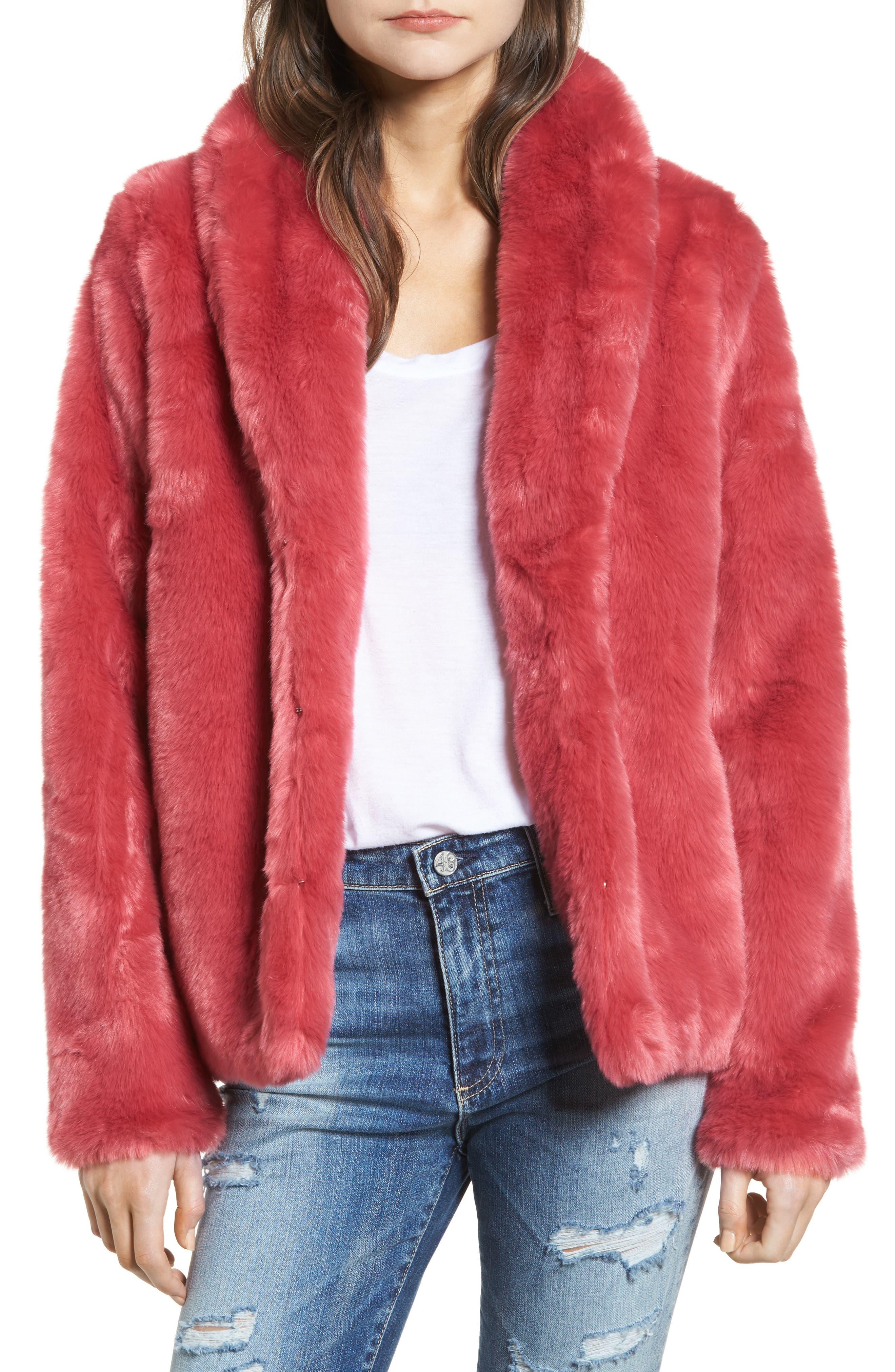 Stone Row Luv Faux Fur Coat