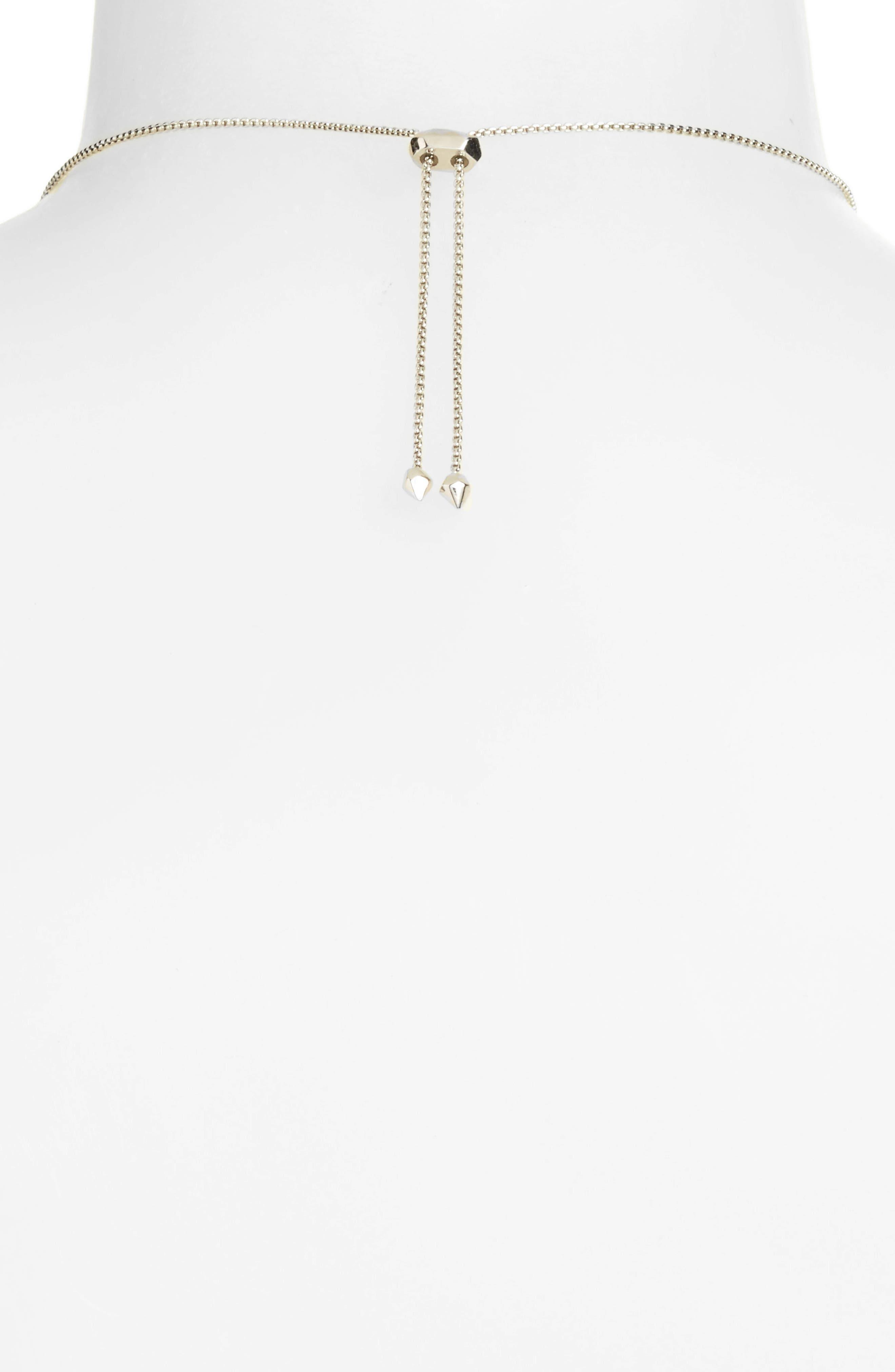 Delaney Pendant Necklace,                             Alternate thumbnail 3, color,                             London Blue/ Silver