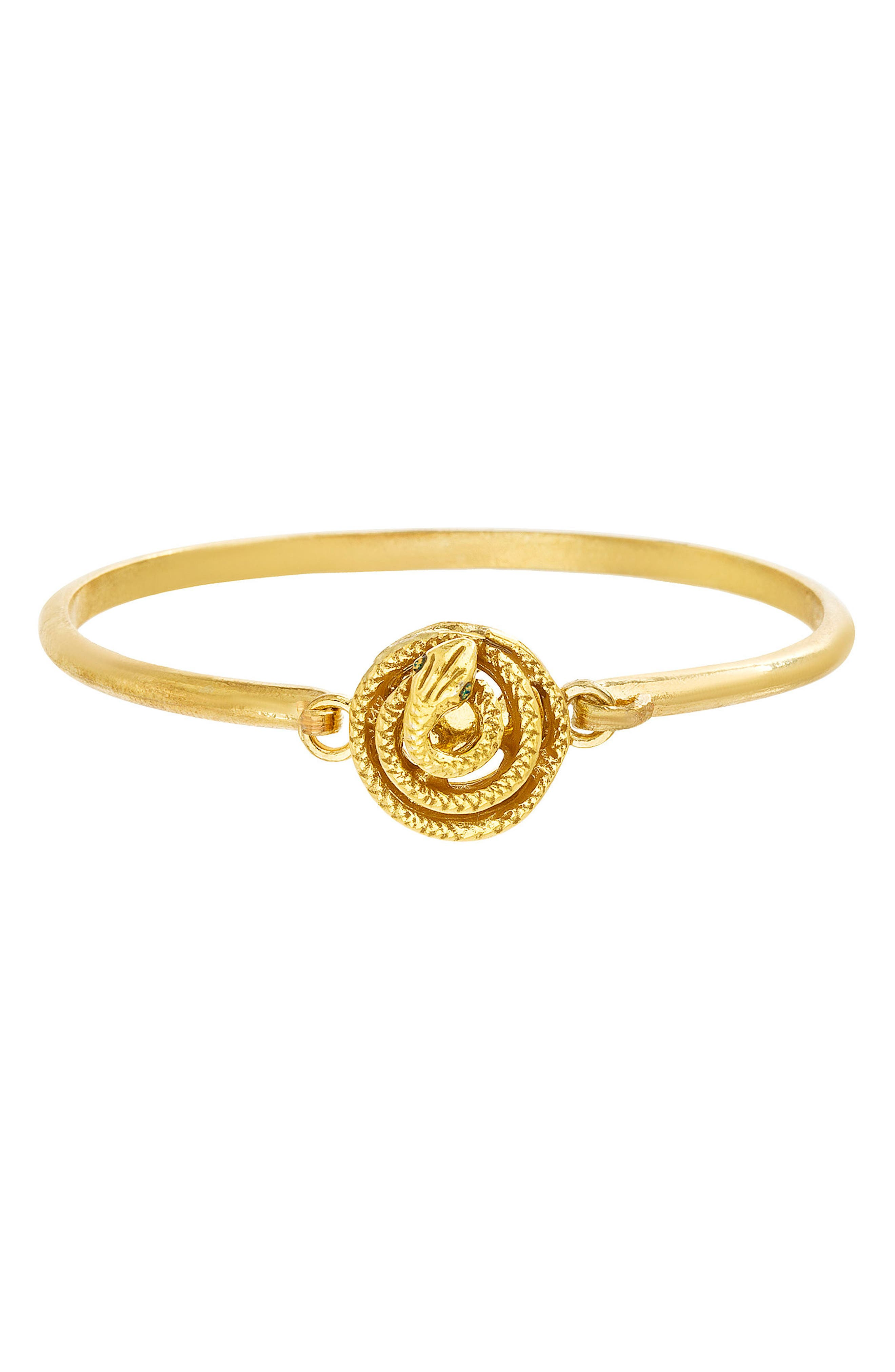 Snake Bangle,                         Main,                         color, Gold