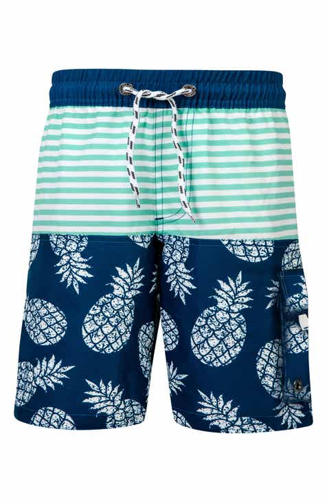 5aa0680b88 Snapper Rock Pineapple Mint Stripe Swim Trunks (Toddler Boys, Little Boys &  Big Boys)