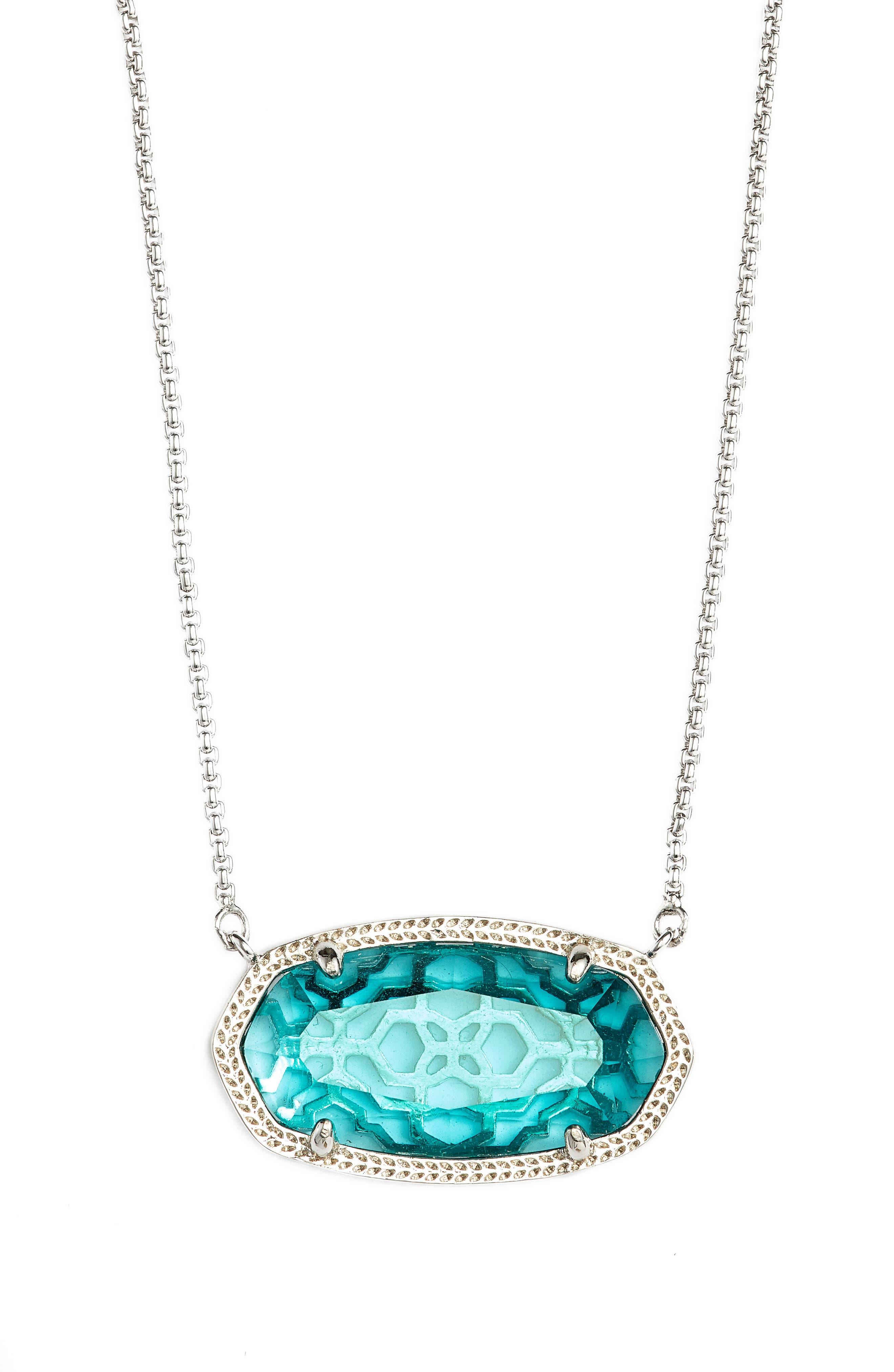 Delaney Pendant Necklace,                         Main,                         color, London Blue/ Silver