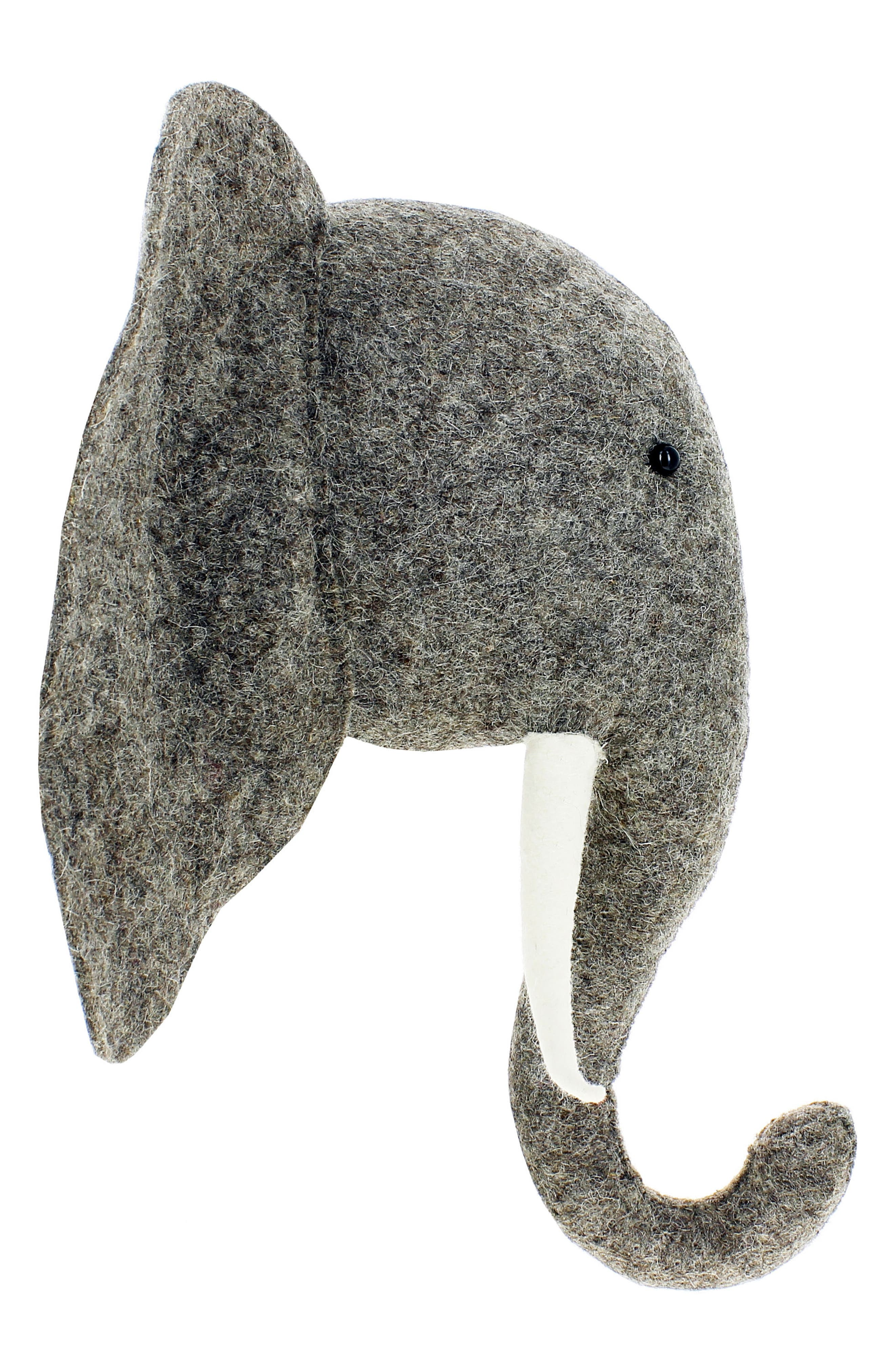 Elephant Head Wall Art,                             Alternate thumbnail 4, color,                             Grey