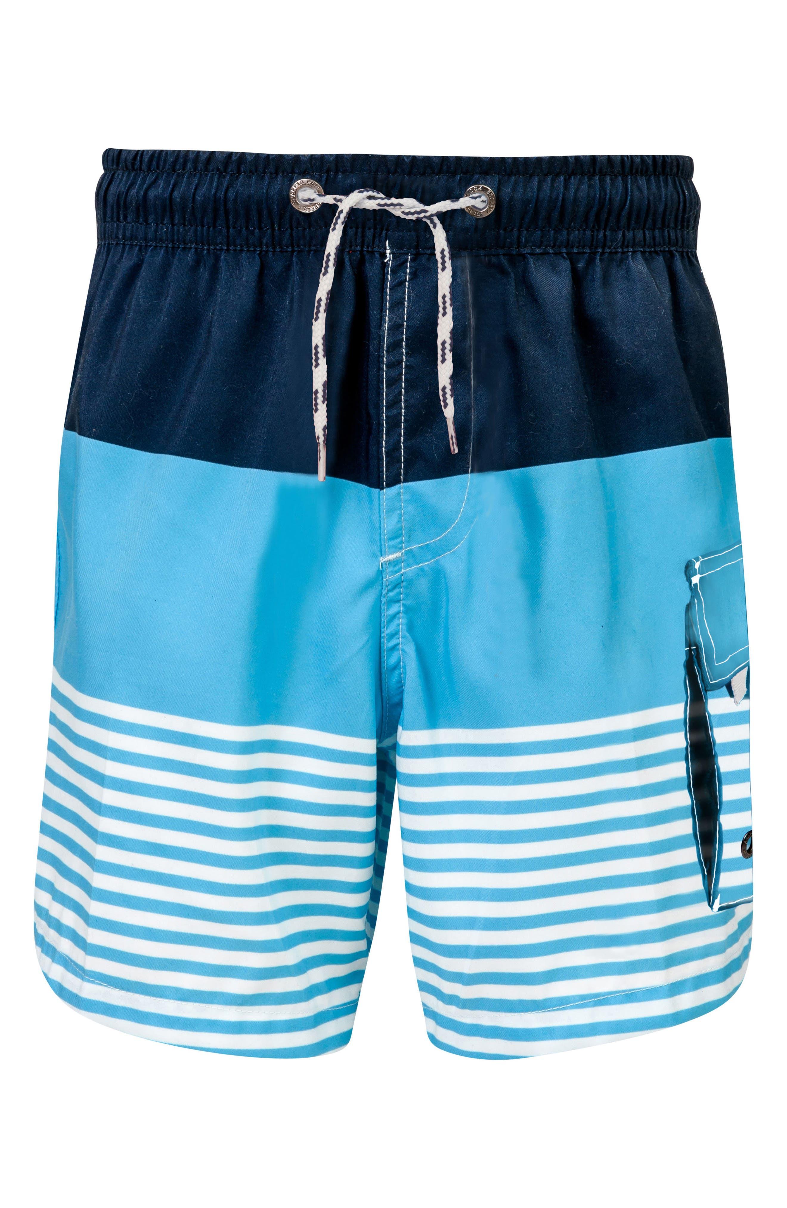Stripe Board Shorts,                         Main,                         color, Navy/ Light Blue/ White