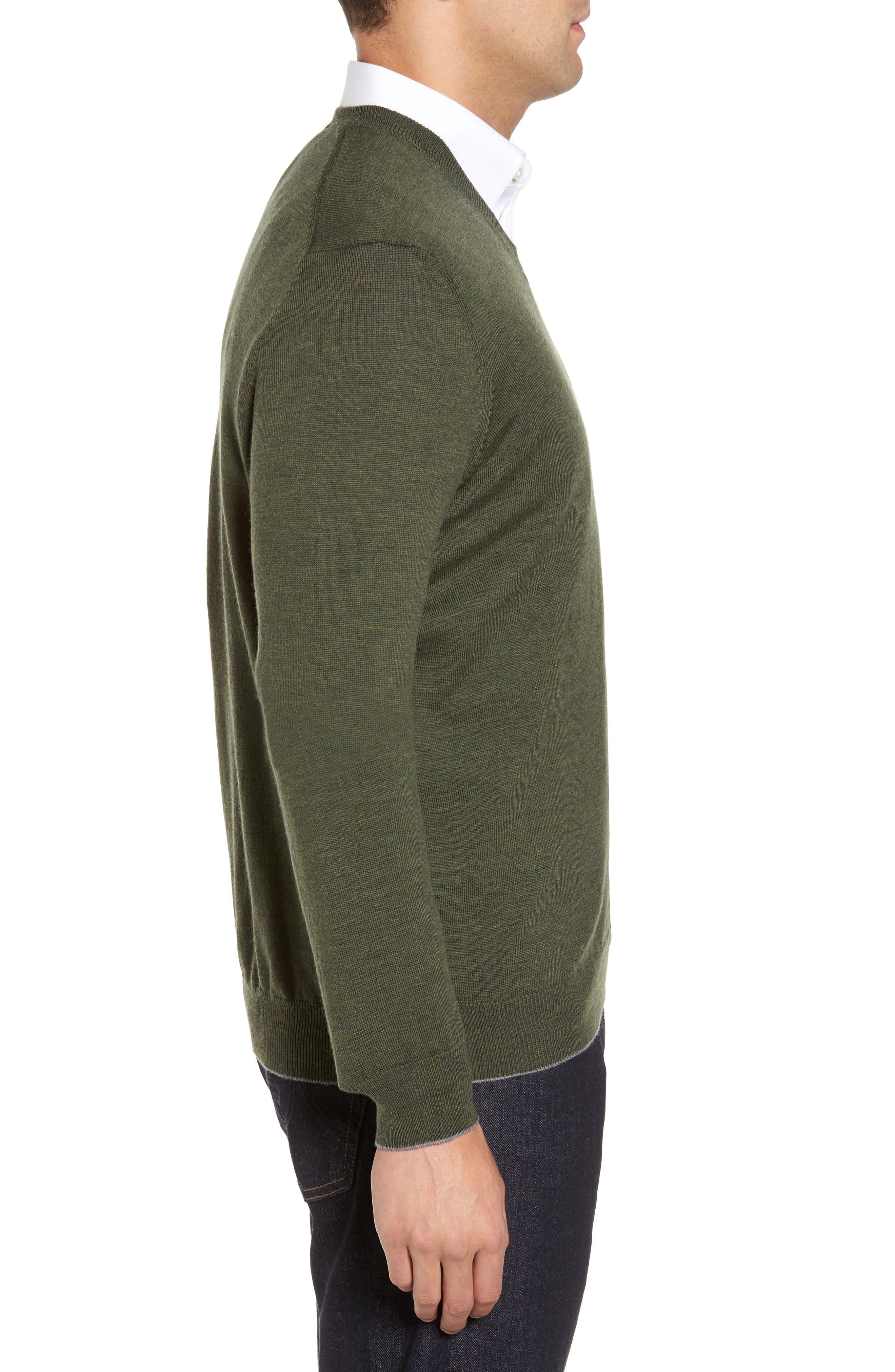 Alternate Image 3  - Thomas Dean Merino Wool Blend V-Neck Sweater