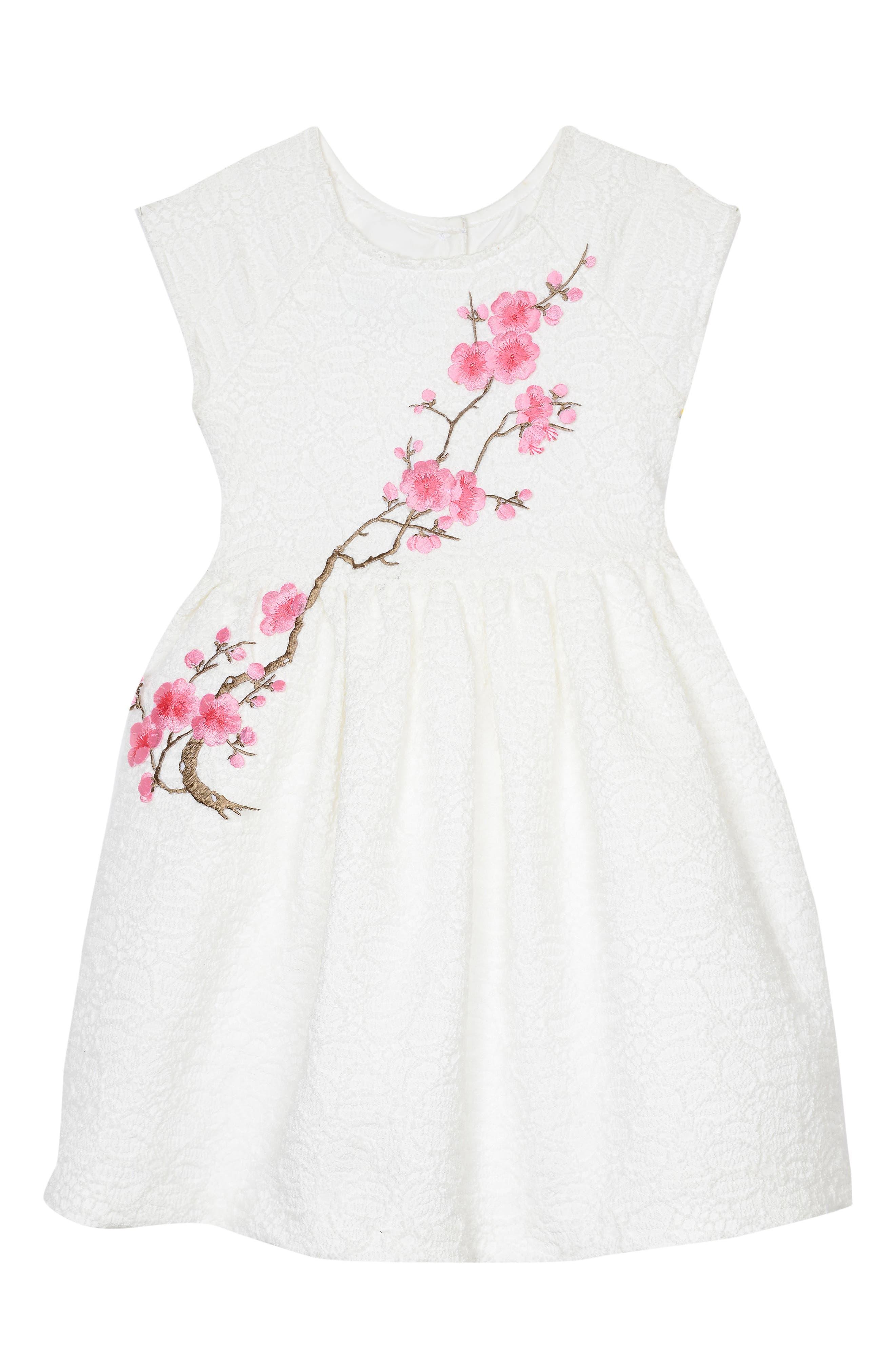 Cherry Blossom Dress,                         Main,                         color, White