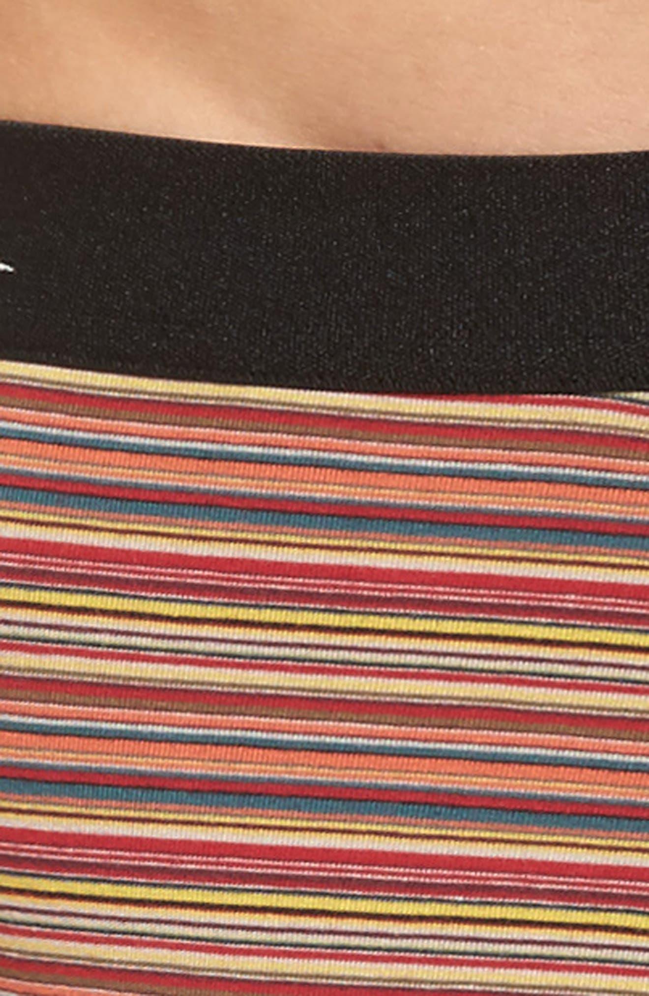 Multi Stripe Stretch Cotton Trunks,                             Alternate thumbnail 4, color,                             Brown