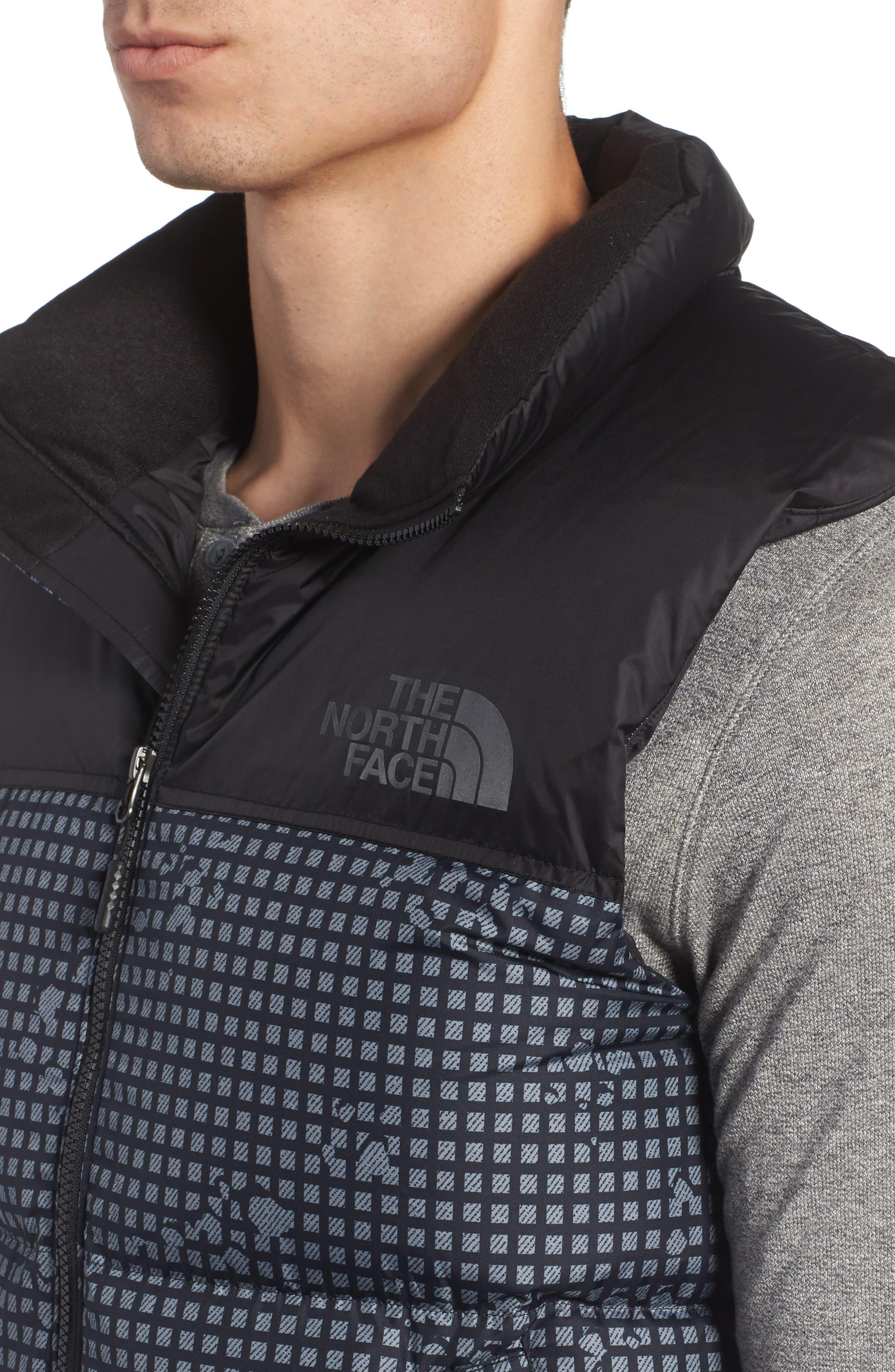 'Nuptse' Quilted Vest,                             Alternate thumbnail 4, color,                             Black Nightmoves / Black