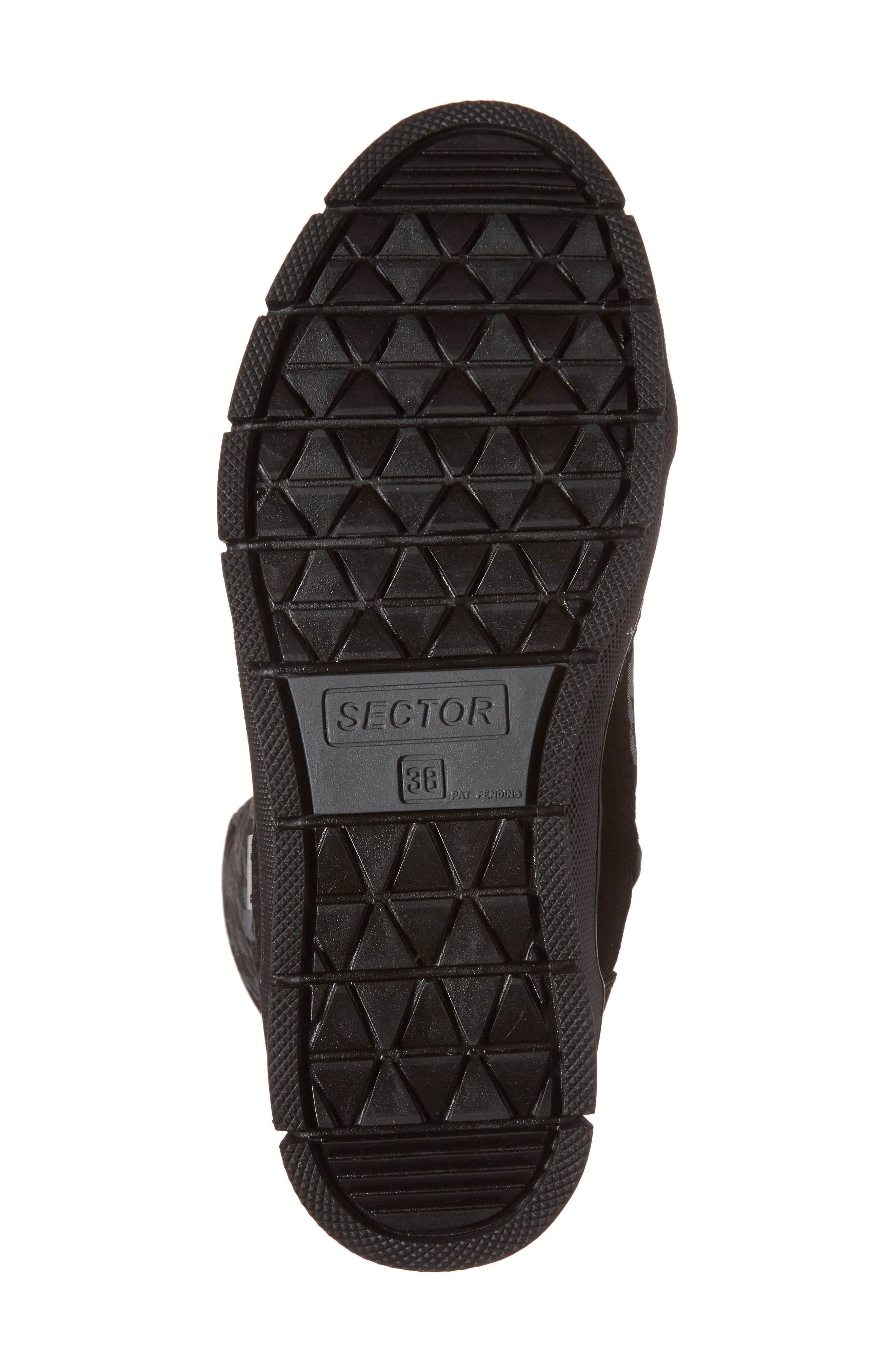 Meribel Waterproof Channel Quilted Lace Up Sneaker Boot,                             Alternate thumbnail 6, color,                             Black Pull Pied