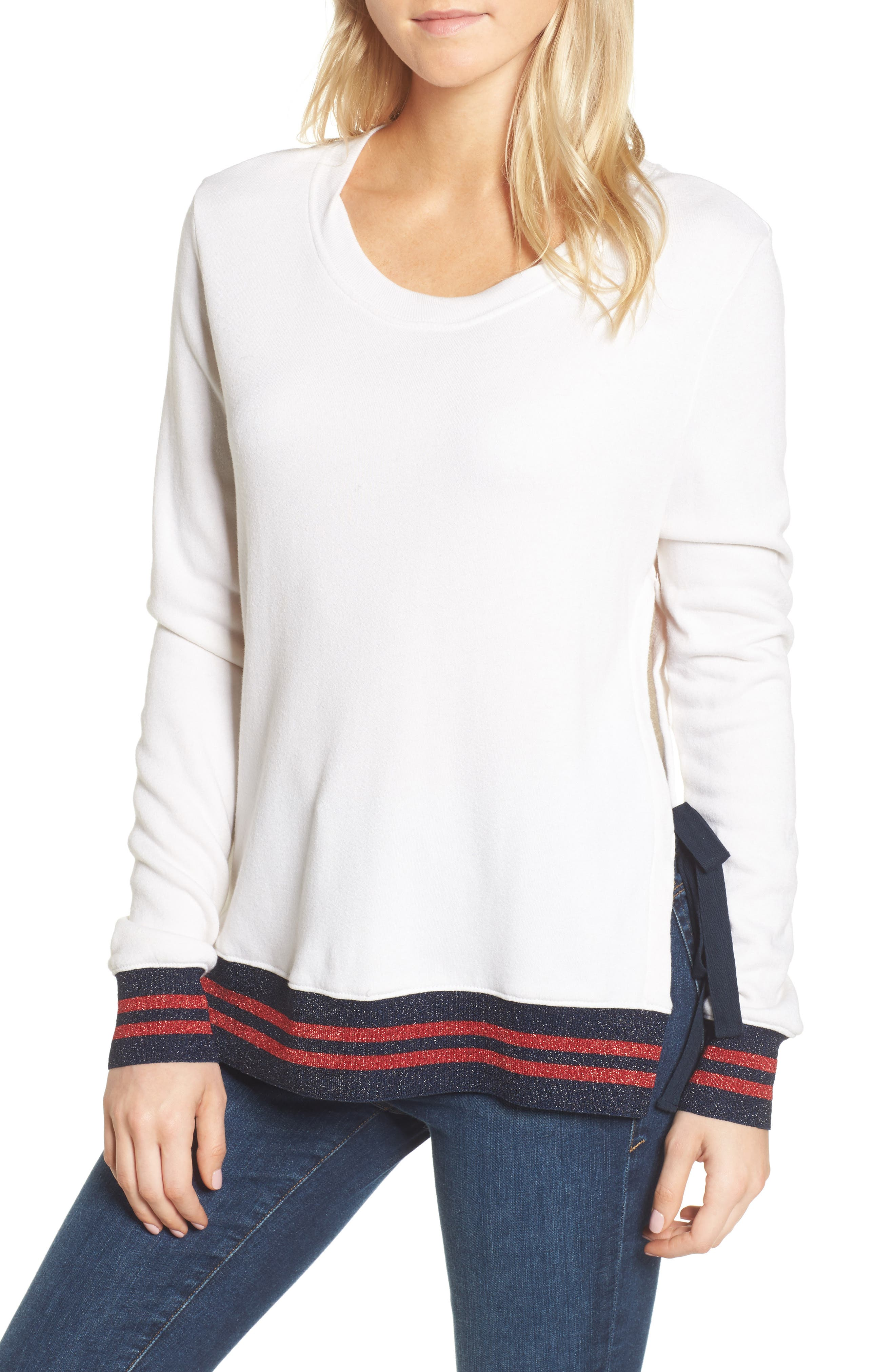 Main Image - Pam & Gela Side Slit Sweatshirt