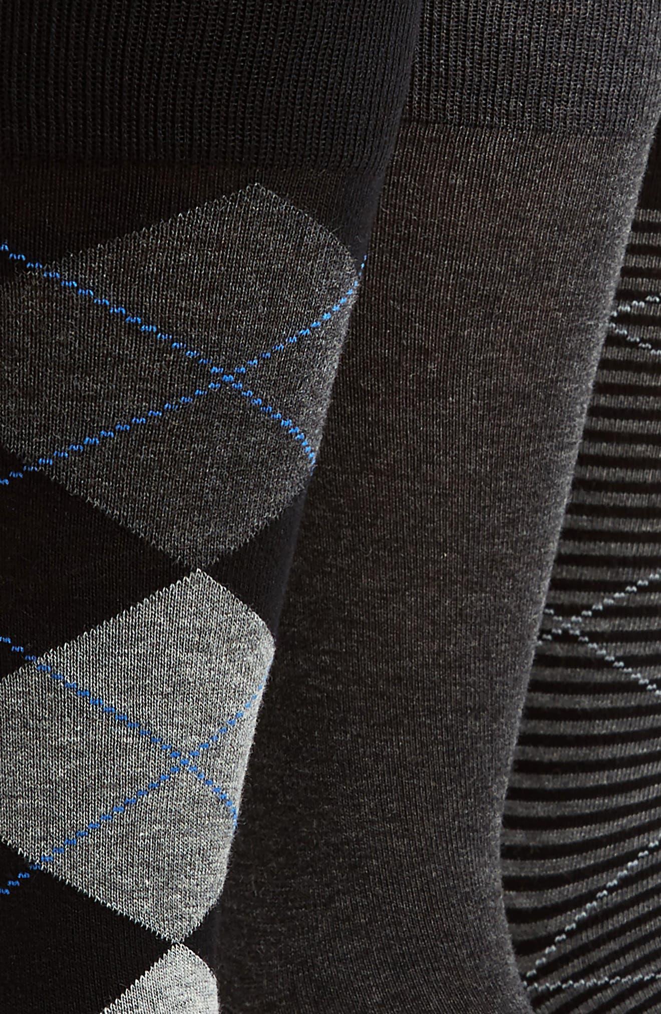 Alternate Image 2  - Nordstrom Men's Shop 3-Pack Cotton Blend Socks