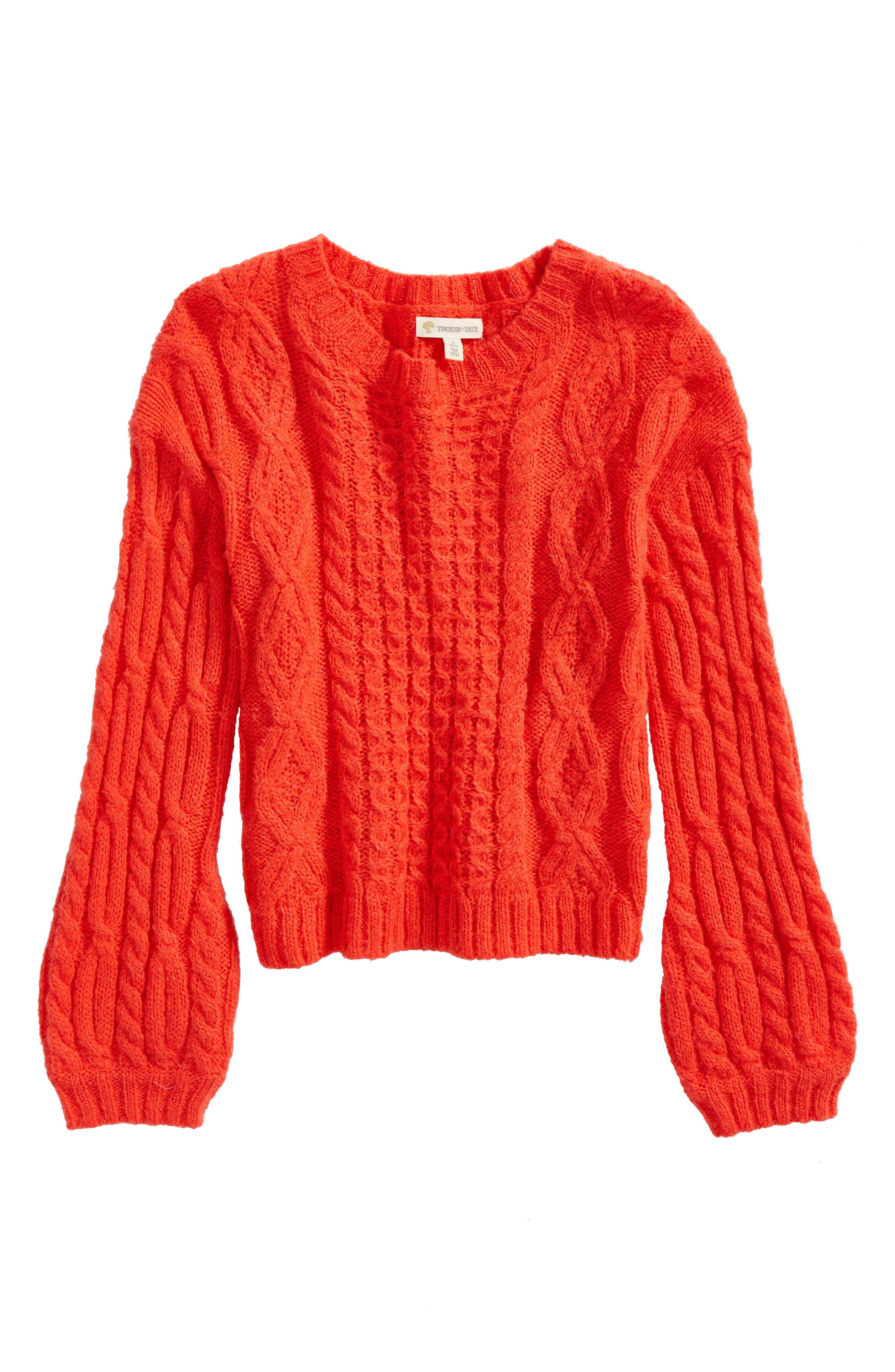 Tucker + Tate Cable Sweater (Big Girls)