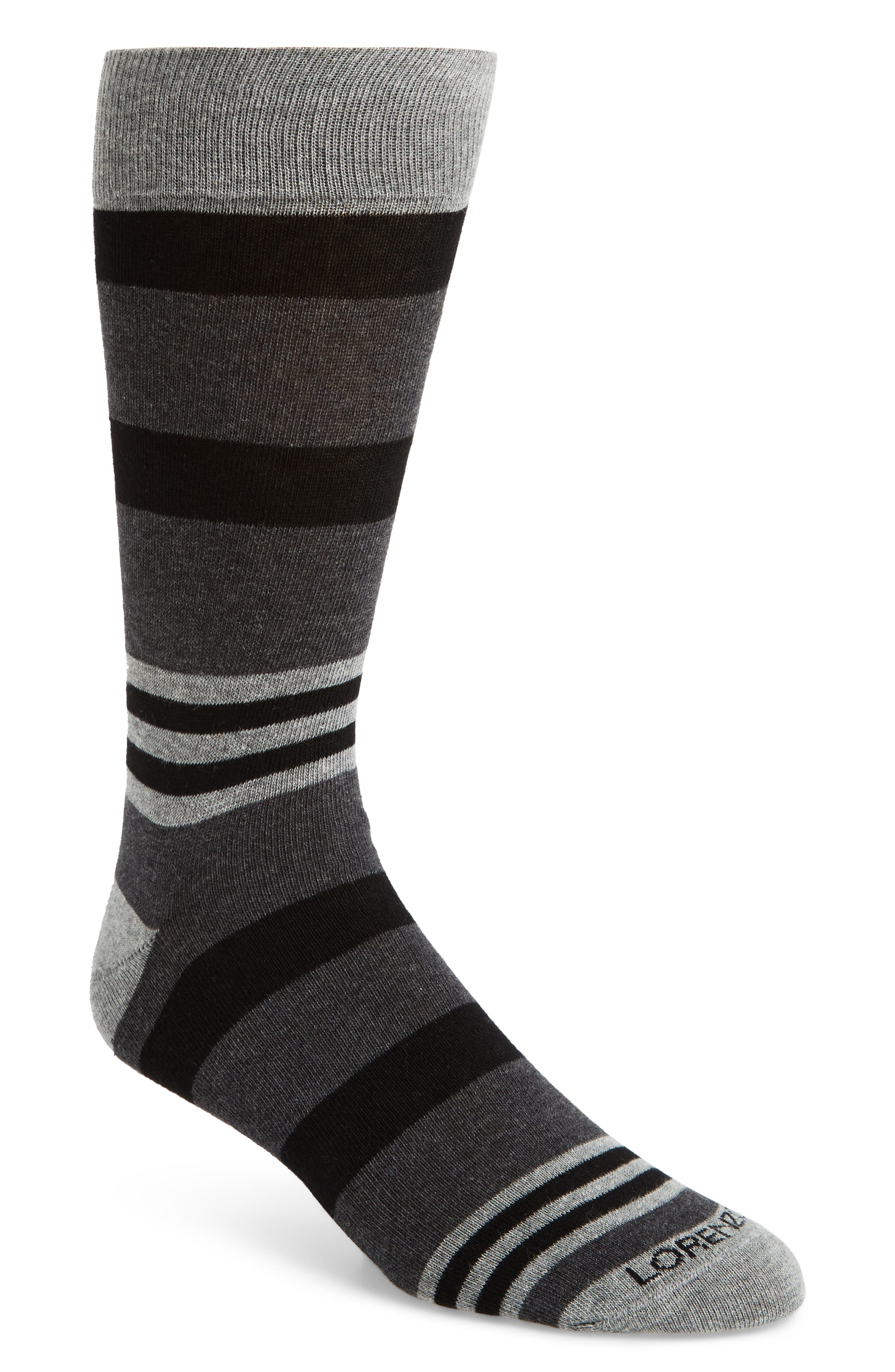 Lorenzo Uomo Striped Socks (3 for $30)