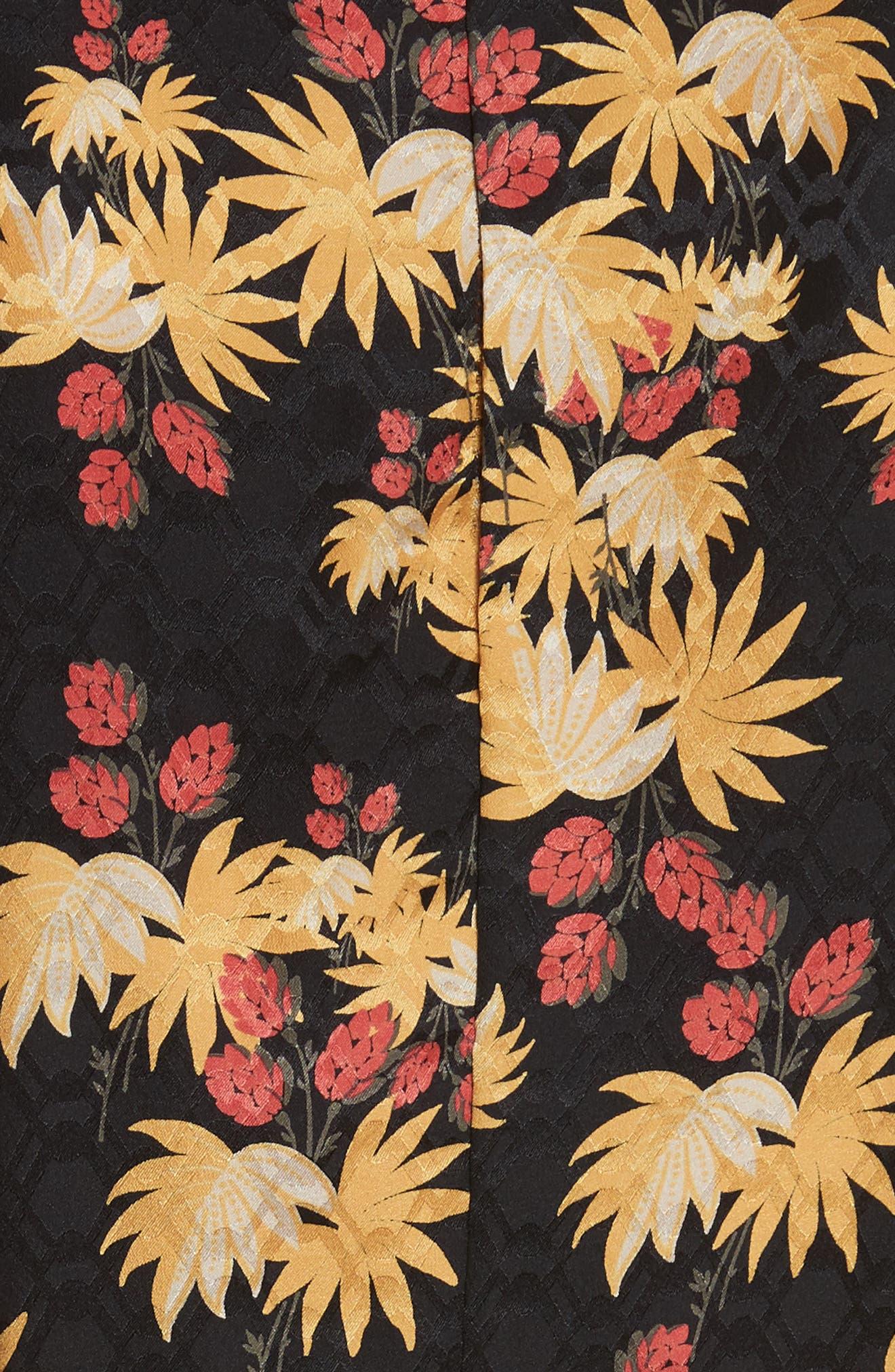 Uvalde Print Silk Jumpsuit,                             Alternate thumbnail 5, color,                             Black Multi