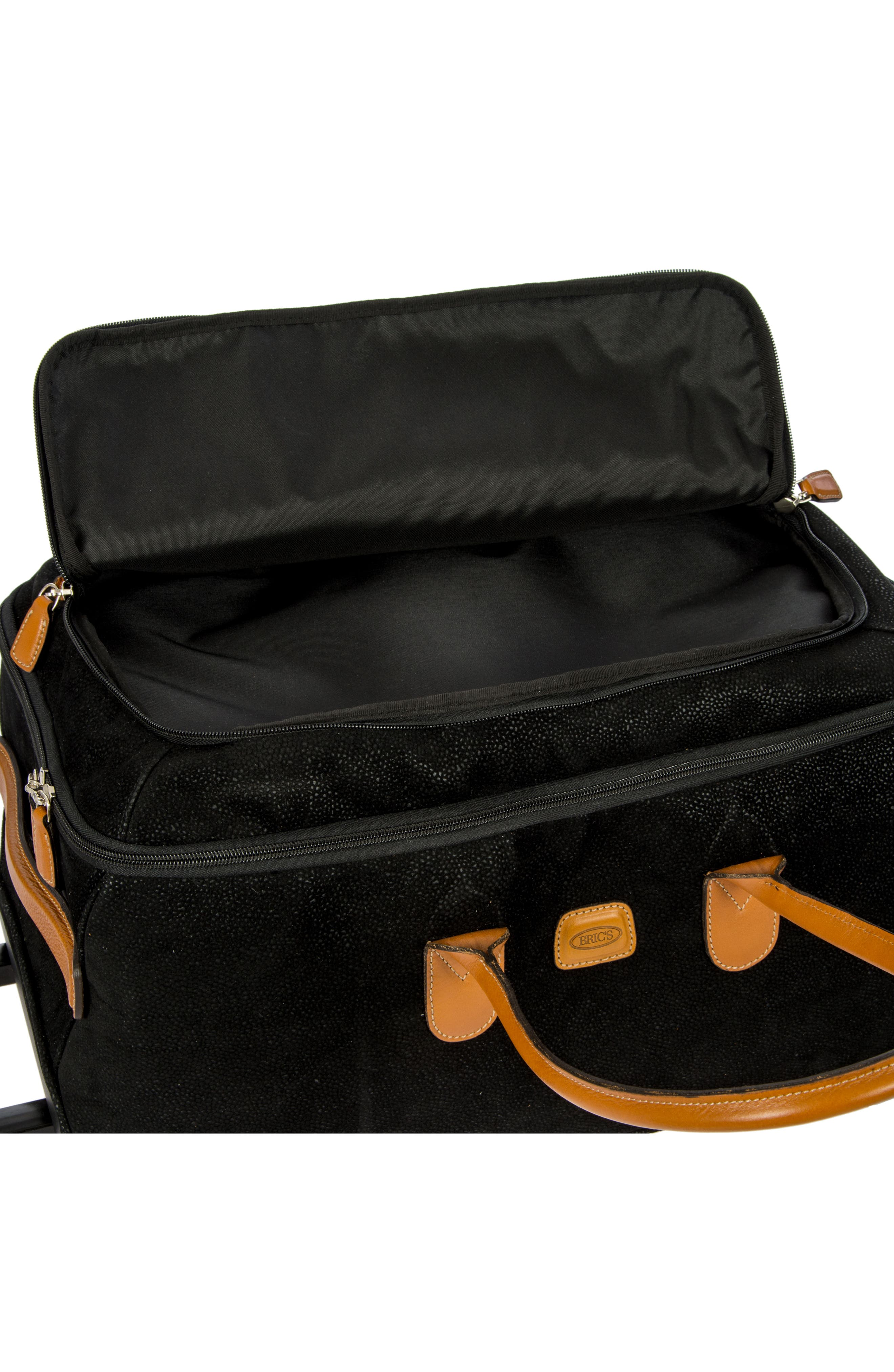 Life Collection 21-Inch Rolling Duffel Bag,                             Alternate thumbnail 5, color,                             Black