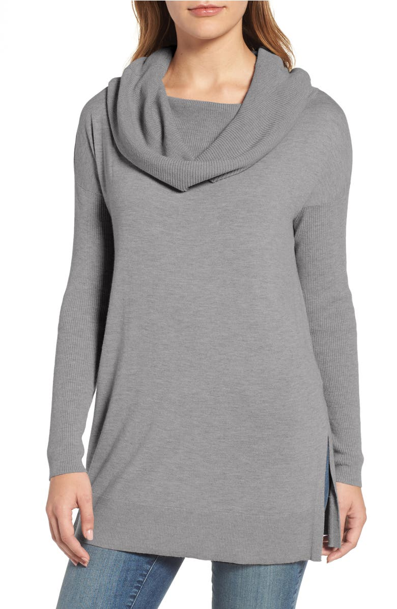 Caslon® Side Slit Cowl Neck Tunic (Regular & Petite) | Nordstrom