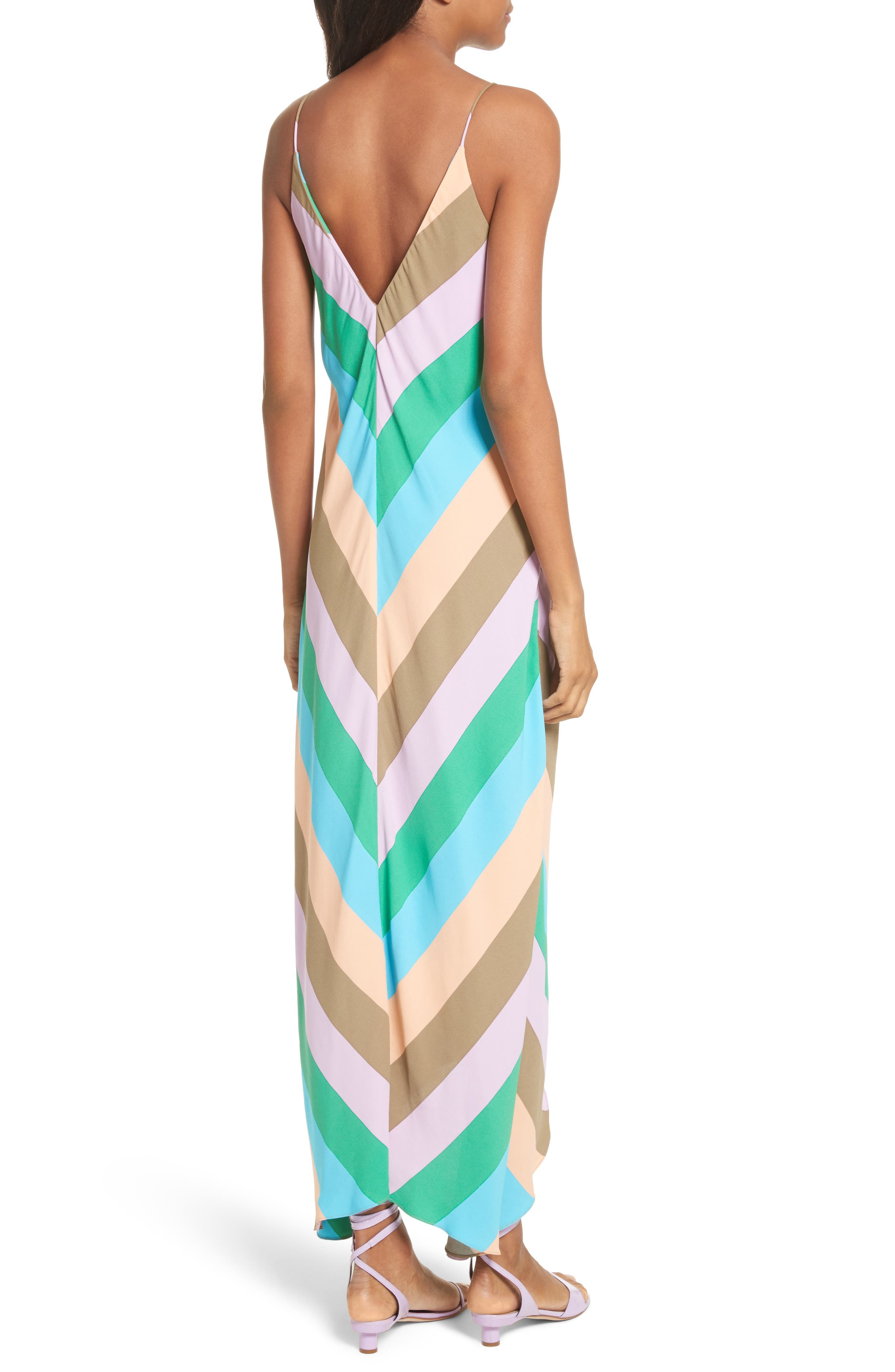 Maxi Slip Dress,                             Alternate thumbnail 2, color,                             Rugby Multi