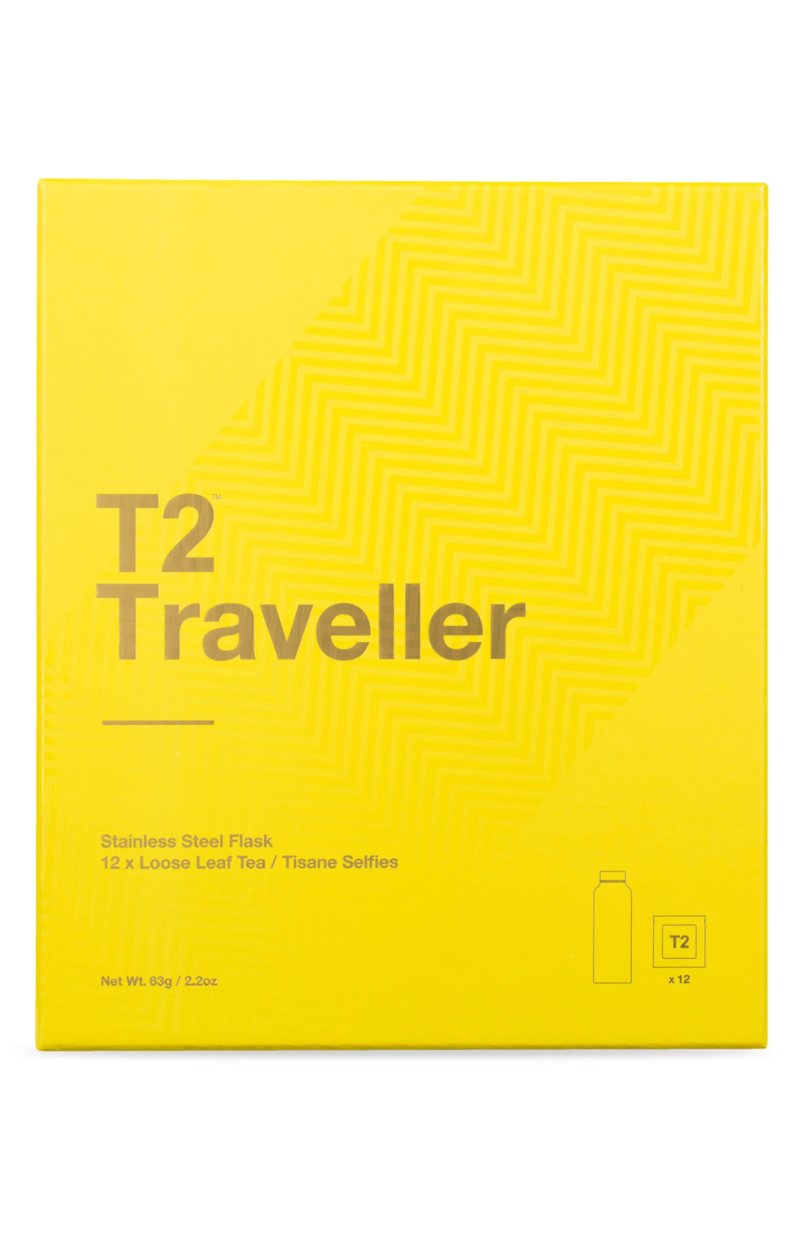 Traveller Stainless Steel Tea Flask,                             Main thumbnail 1, color,                             Multi