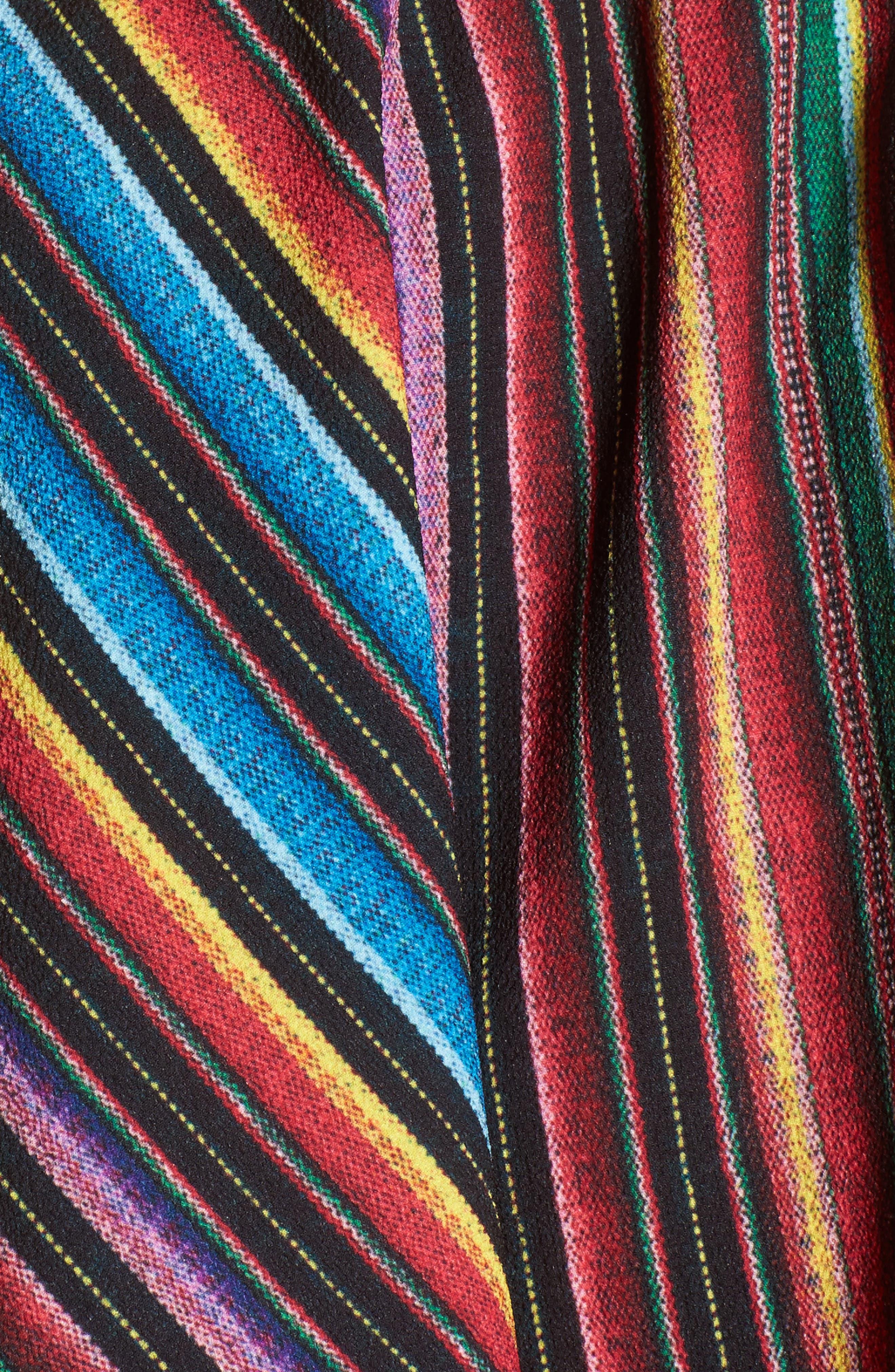 Nica Ruffle Top,                             Alternate thumbnail 6, color,                             Siesta Siesta Stripe