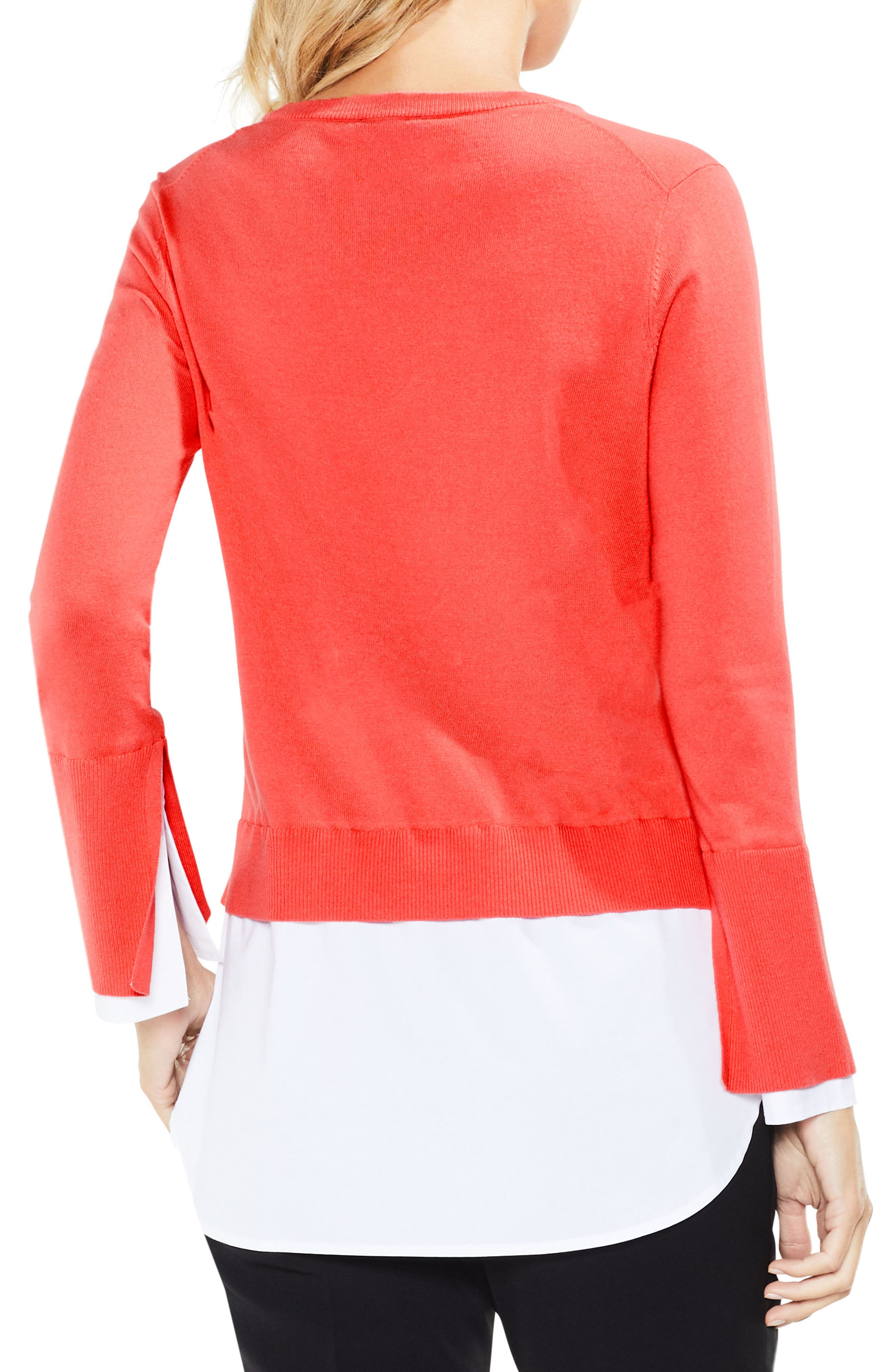 Alternate Image 2  - Vince Camuto Layered Look Sweater