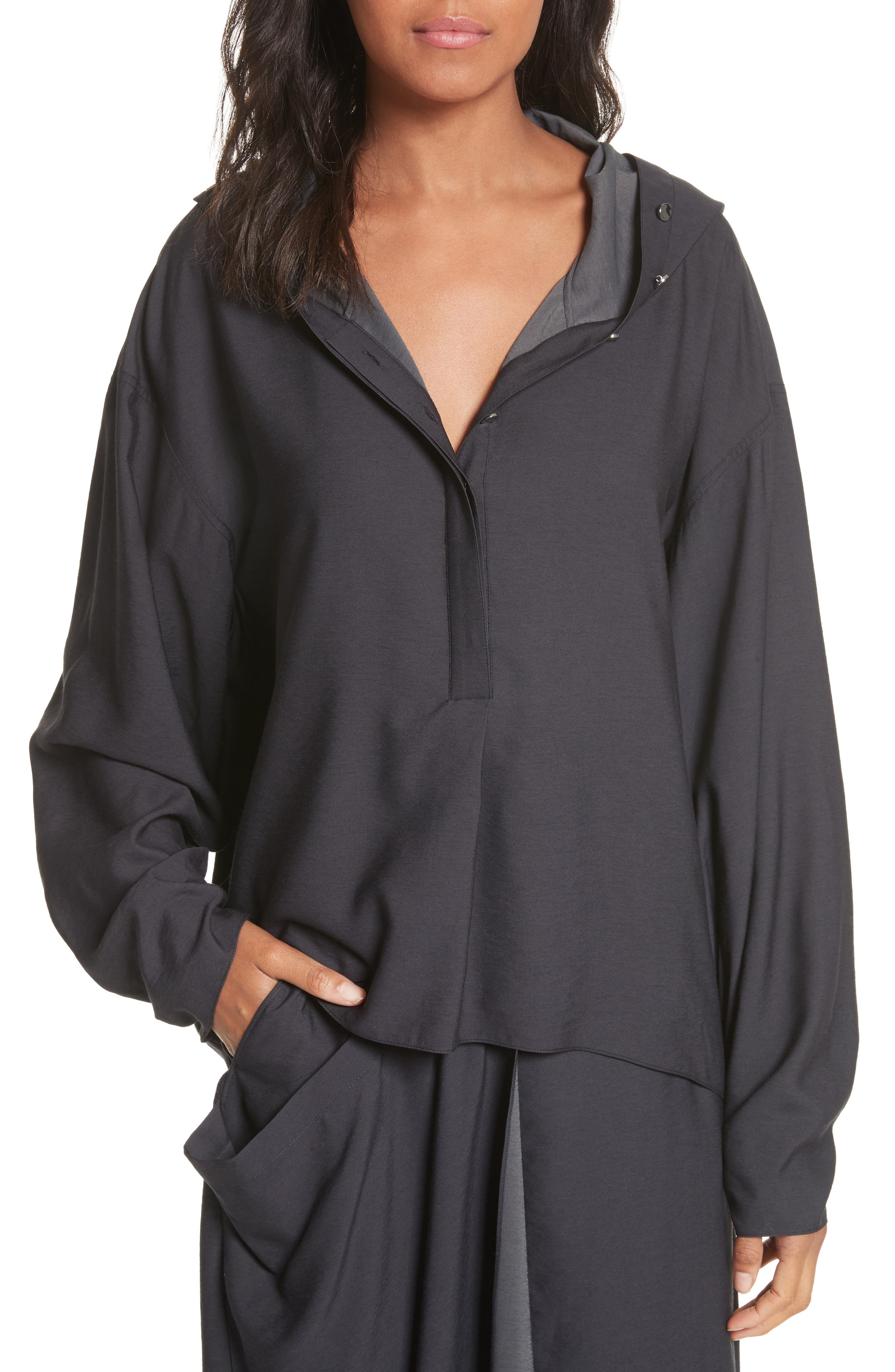 Hooded Tunic,                         Main,                         color, Black