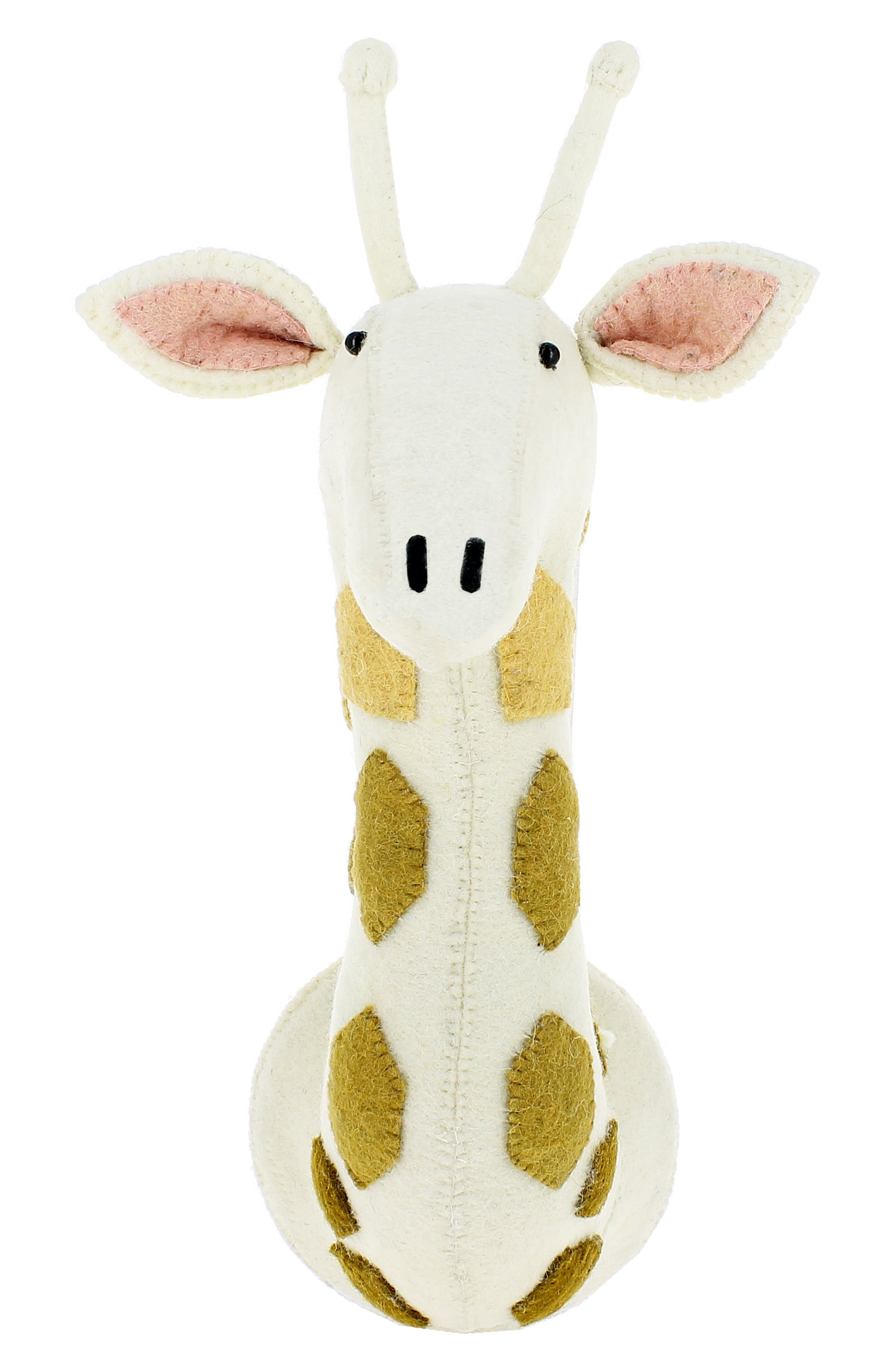 Ombré Spot Giraffe Head Wall Art,                         Main,                         color, Cream