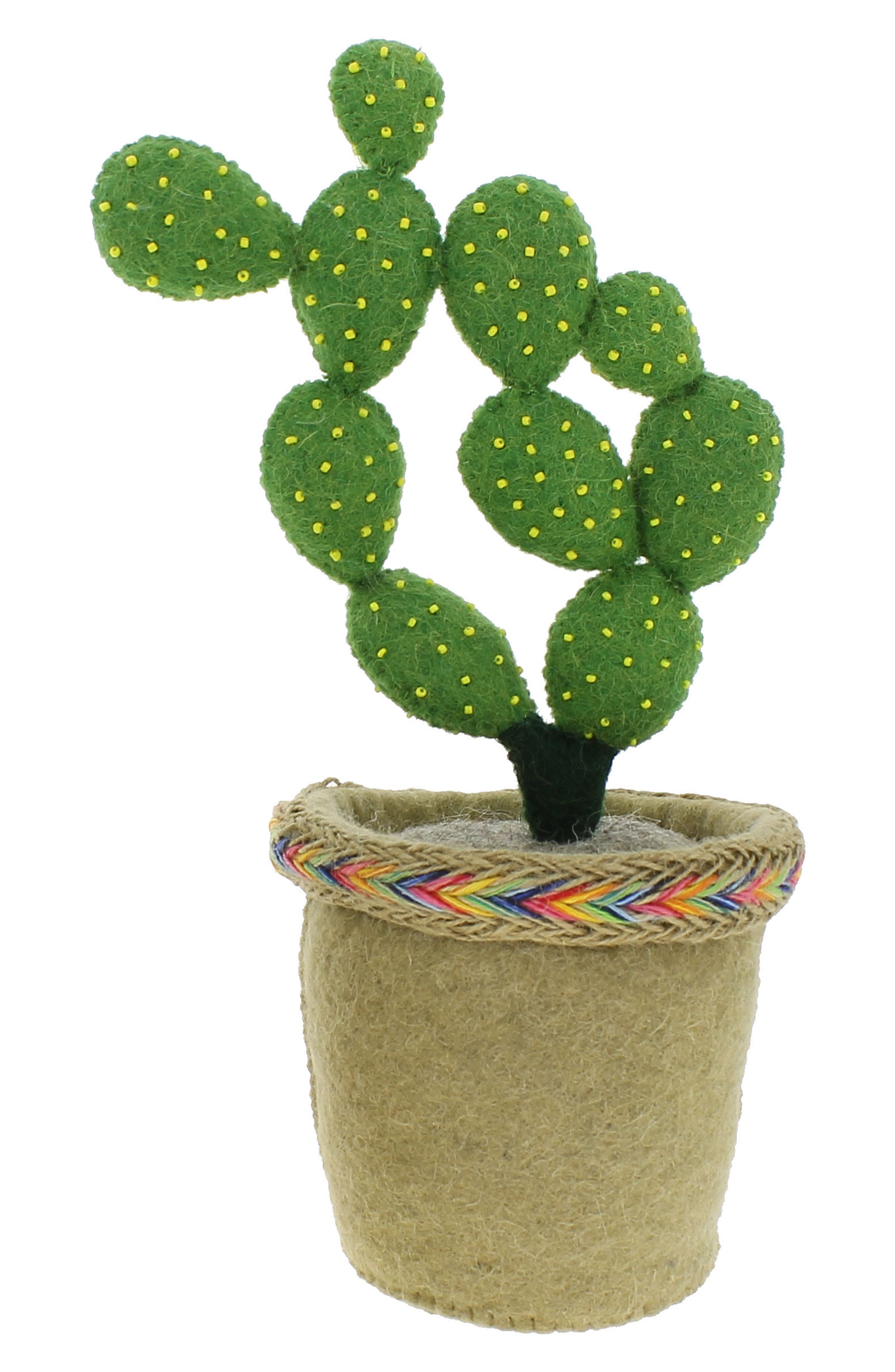 Stuffed Prickly Pear Weighted Bookend,                         Main,                         color, Green