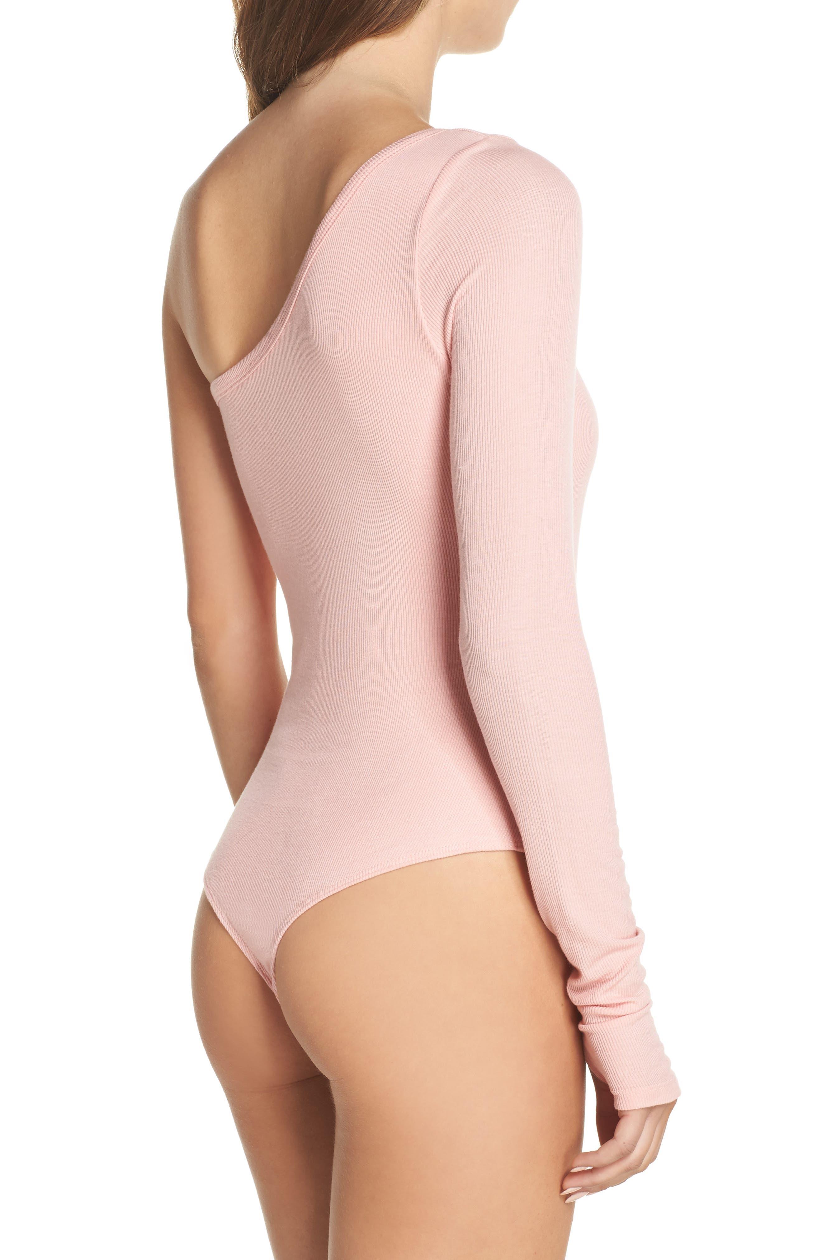 Alternate Image 2  - Olympia Theodora Sasha One-Shoulder Thong Bodysuit