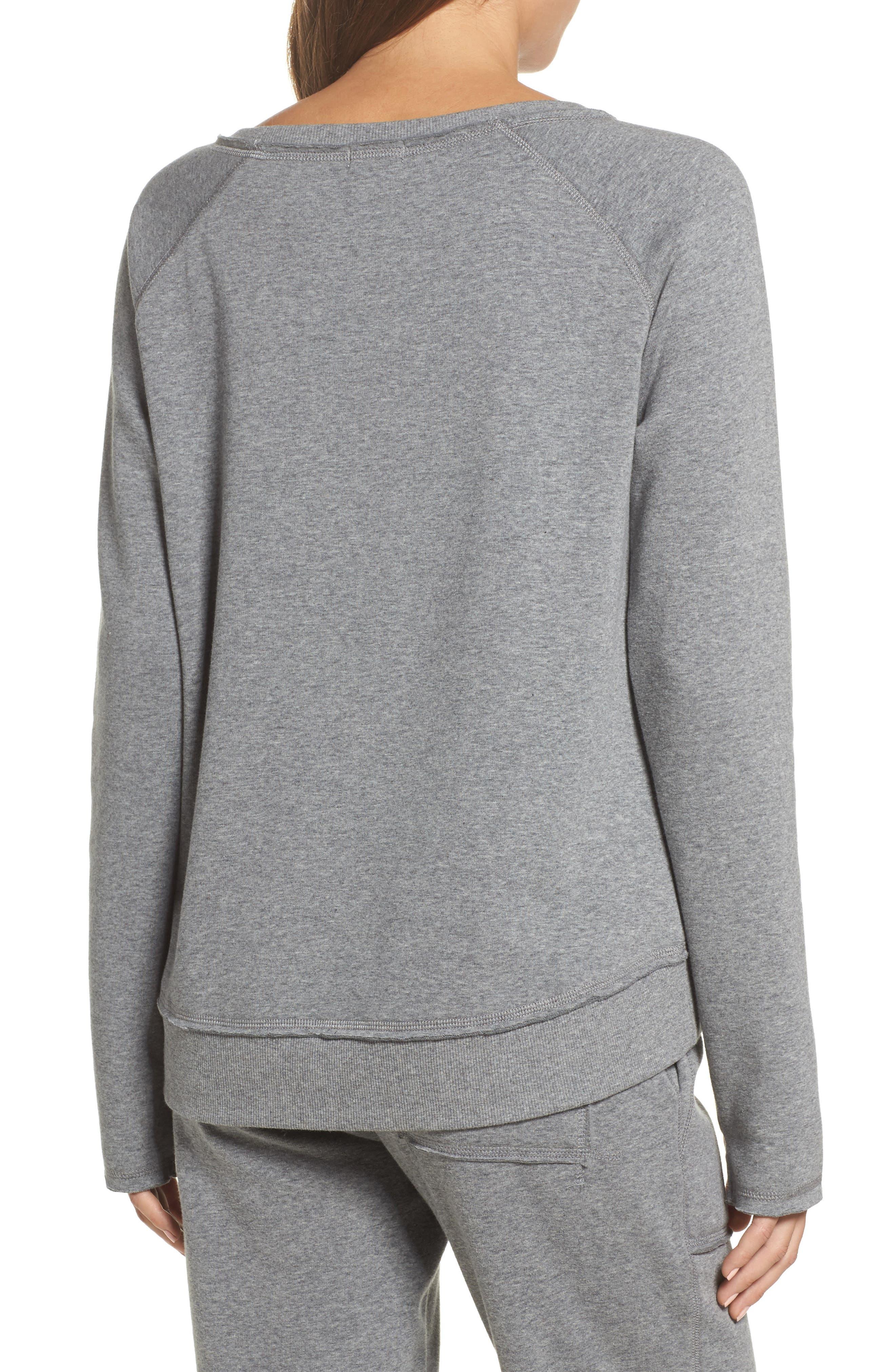 Fleece Sweatshirt,                             Alternate thumbnail 2, color,                             Heather Grey