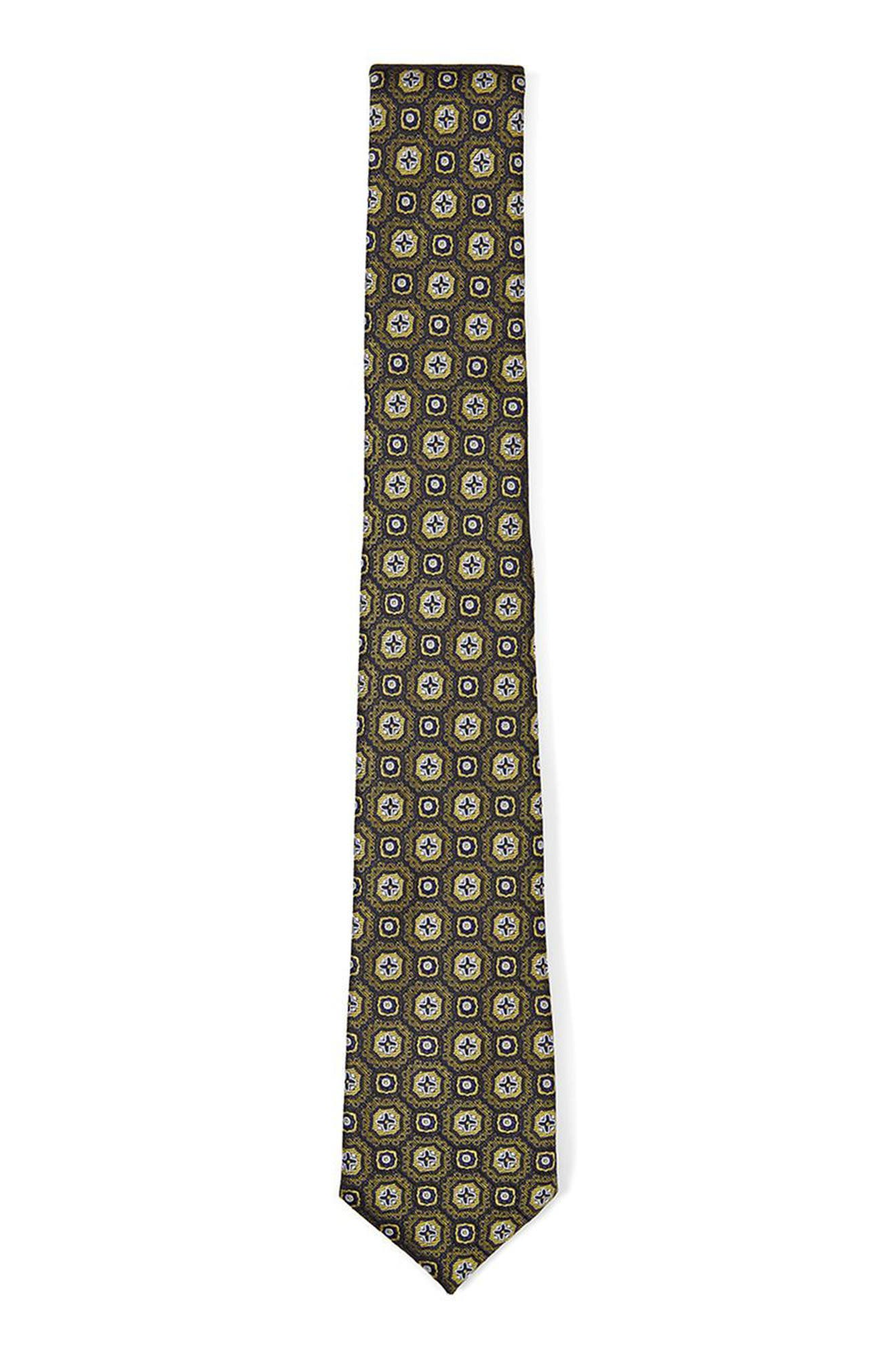 Paisley Jacquard Tie,                         Main,                         color, Gold Multi