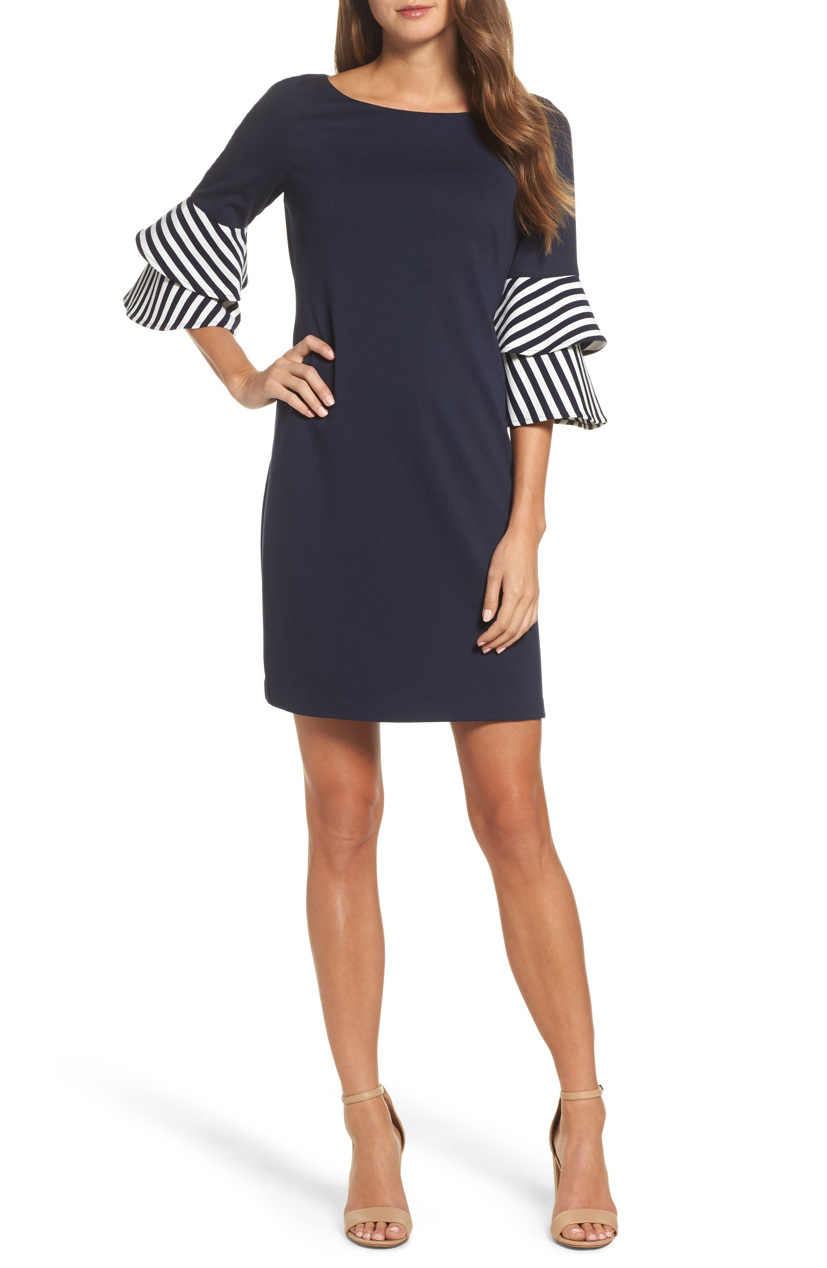 Eliza J Tiered Sleeve Shift Dress