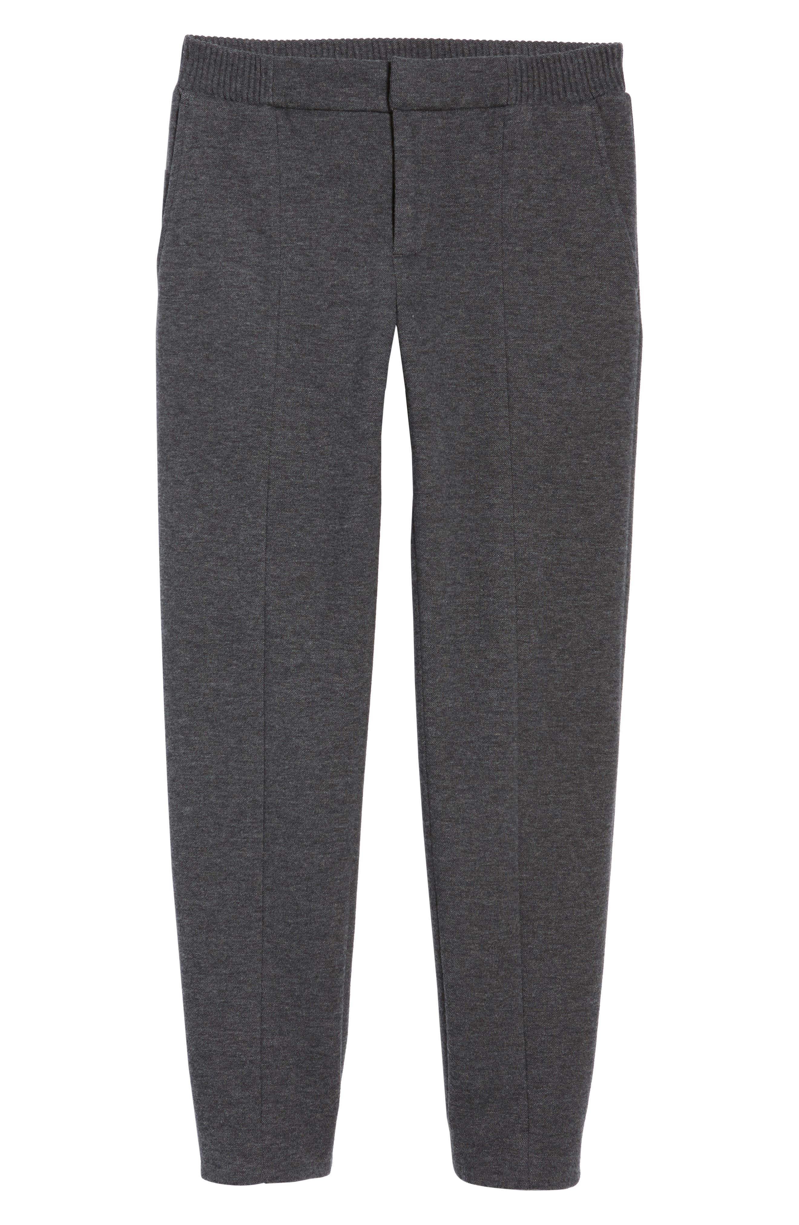 Jordan Flat Front Cotton Jogger Trousers,                             Alternate thumbnail 6, color,                             Medium Grey