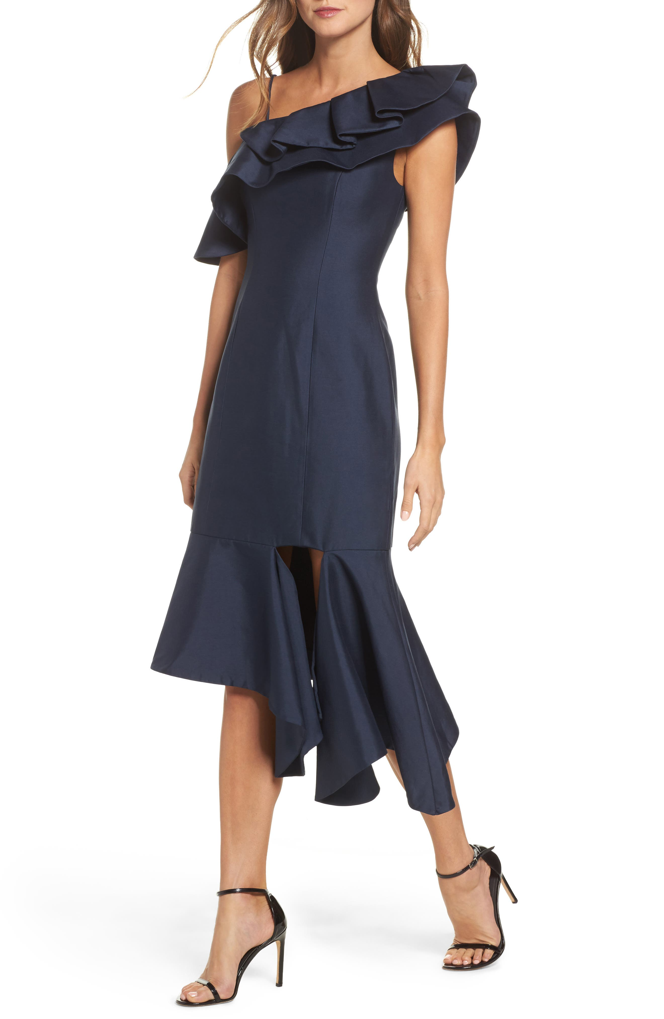 Night Lights Midi Dress,                             Main thumbnail 1, color,                             Navy