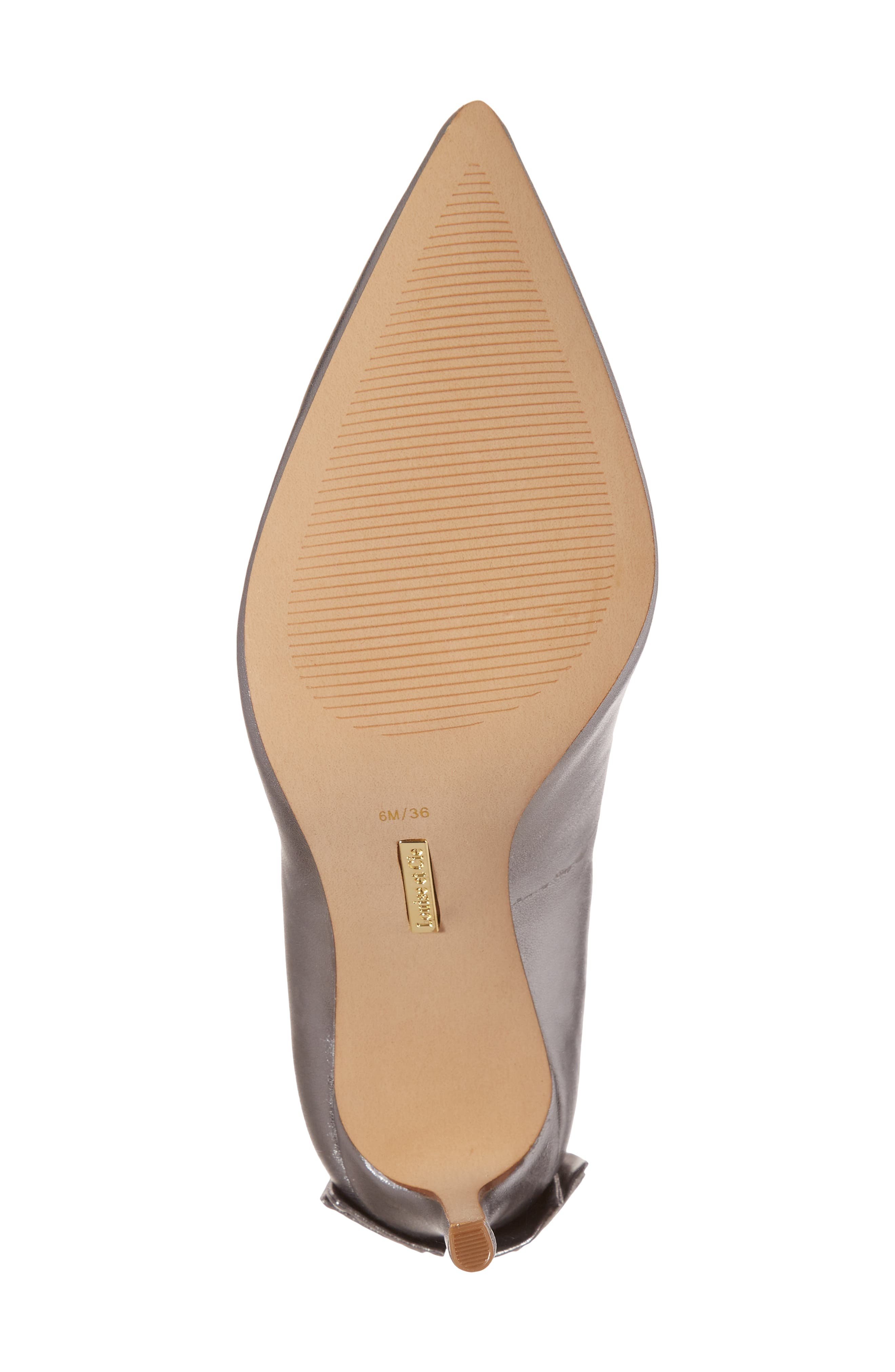 Josely Pointy Toe Pump,                             Alternate thumbnail 6, color,                             Chrome Leather