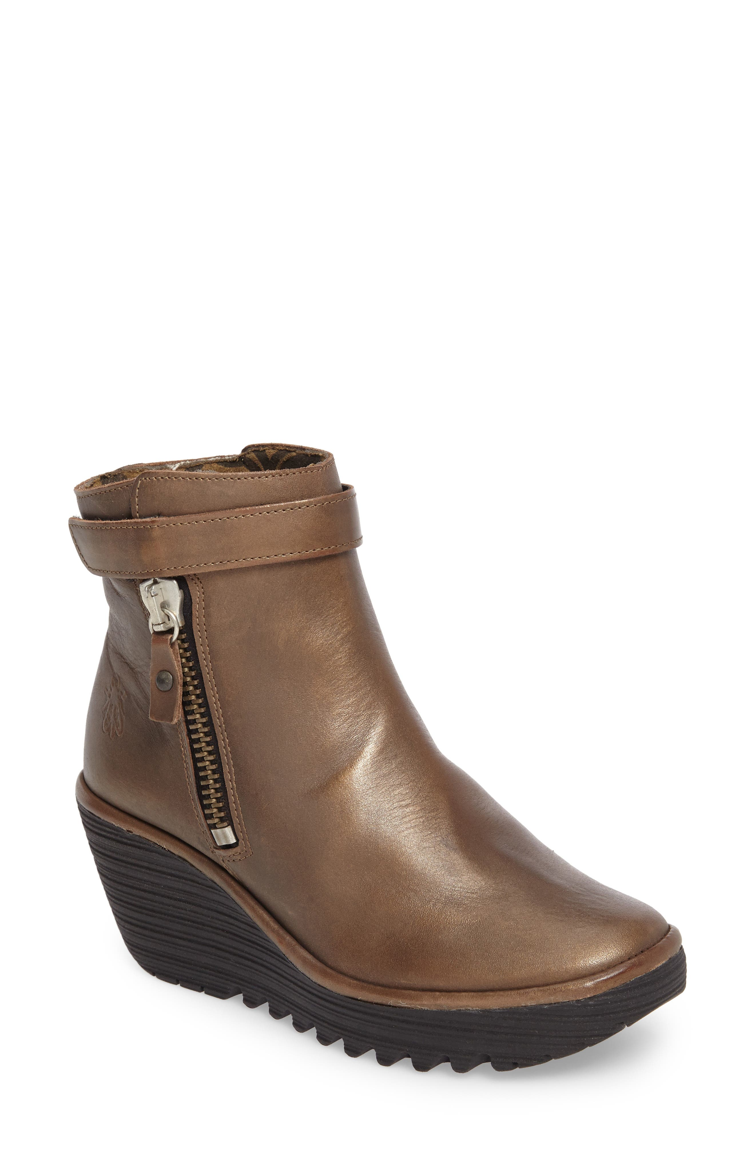 'Yava' Bootie,                         Main,                         color, Olive Grace Leather