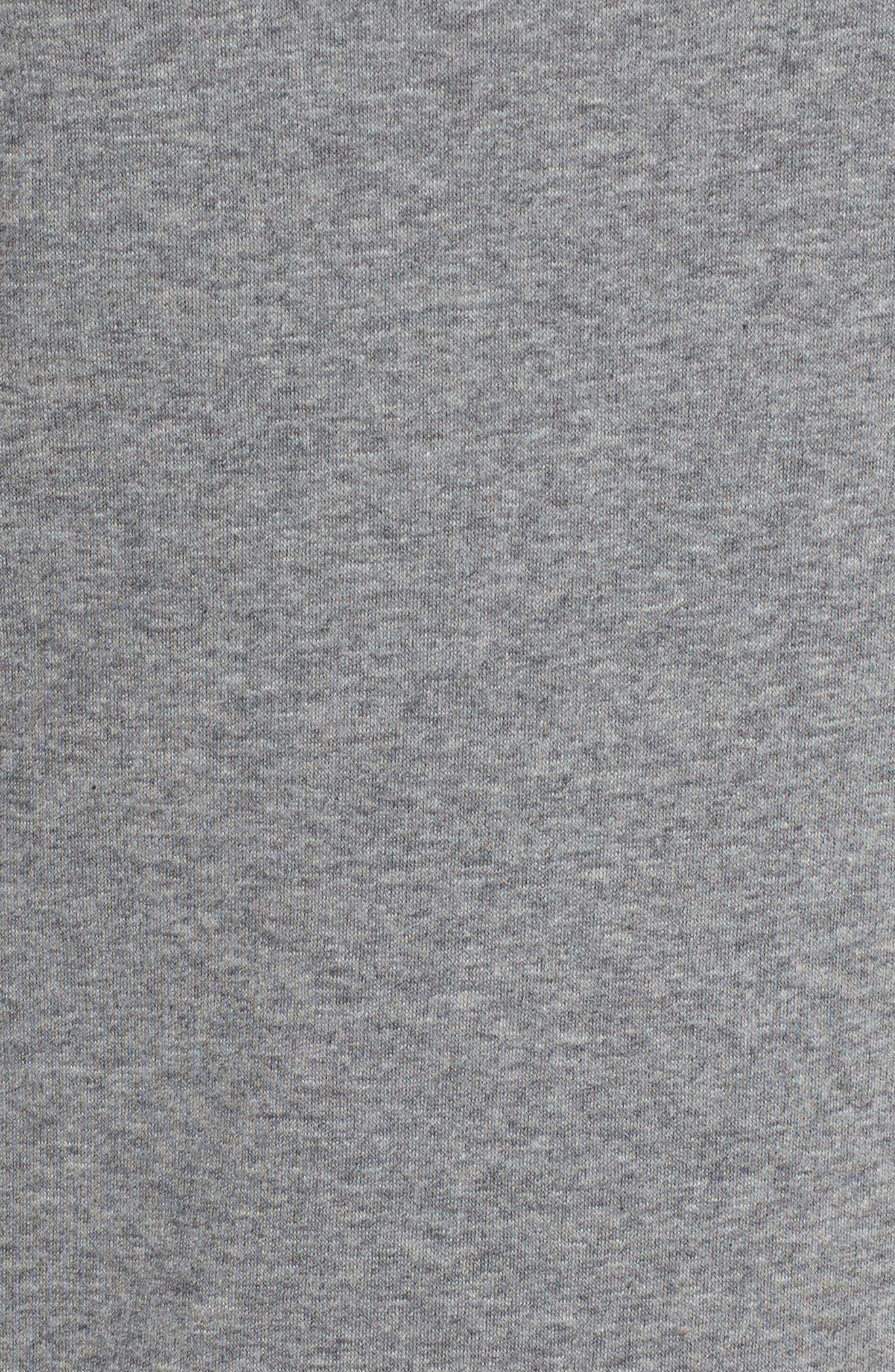 Fleece Sweatshirt,                             Alternate thumbnail 7, color,                             Heather Grey
