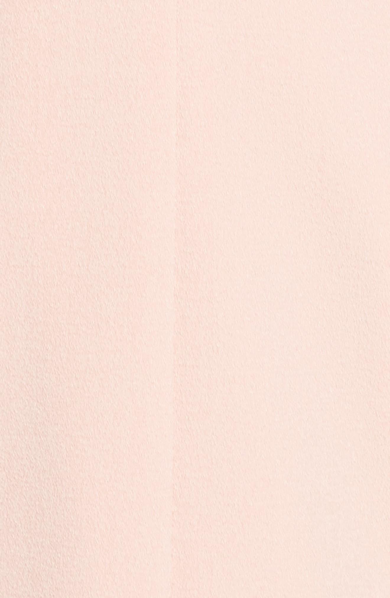 Portrait Collar Sheath Dress,                             Alternate thumbnail 5, color,                             Blush
