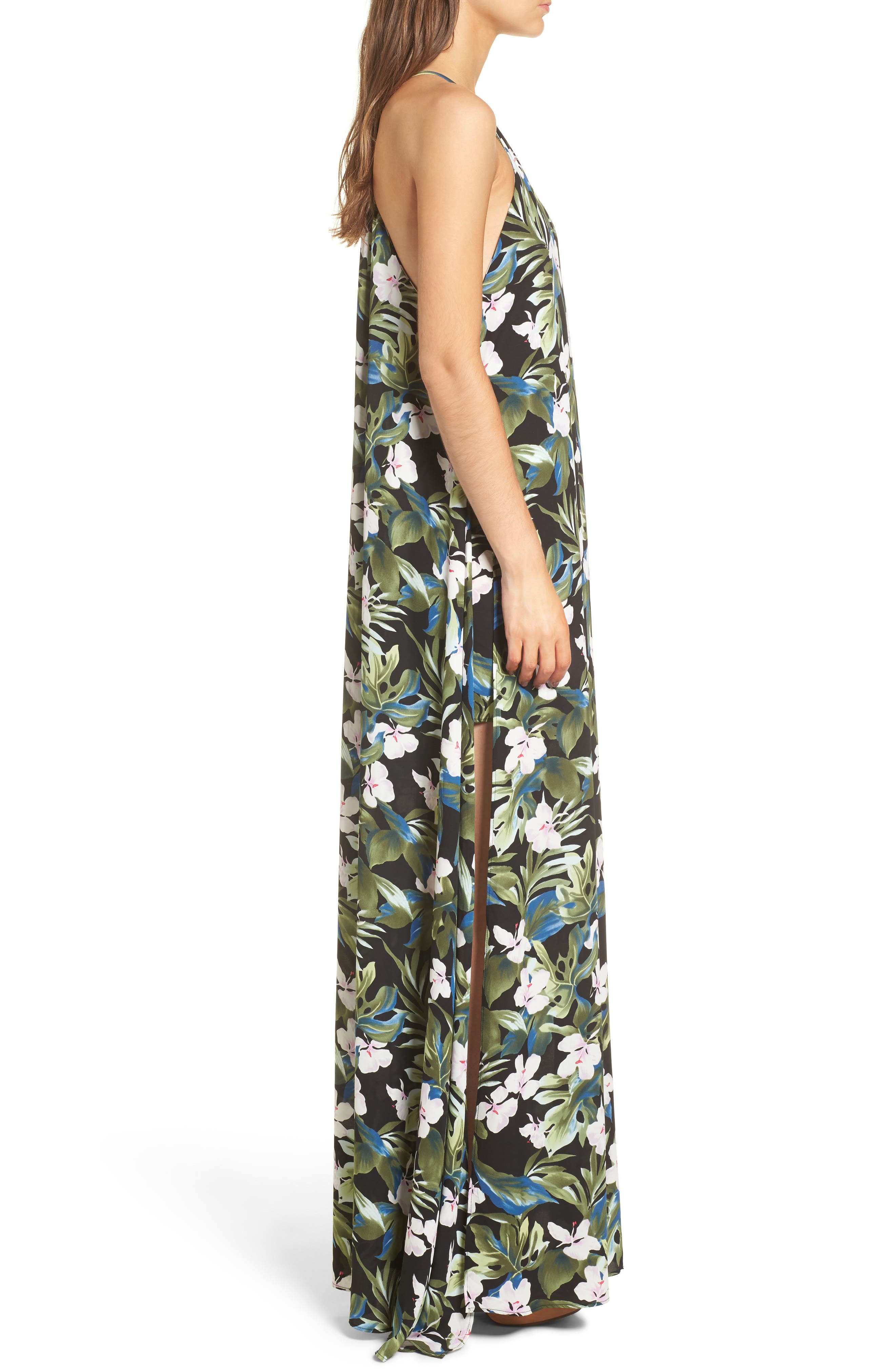 Bronte Maxi Dress,                             Alternate thumbnail 3, color,                             Monet On Vacay