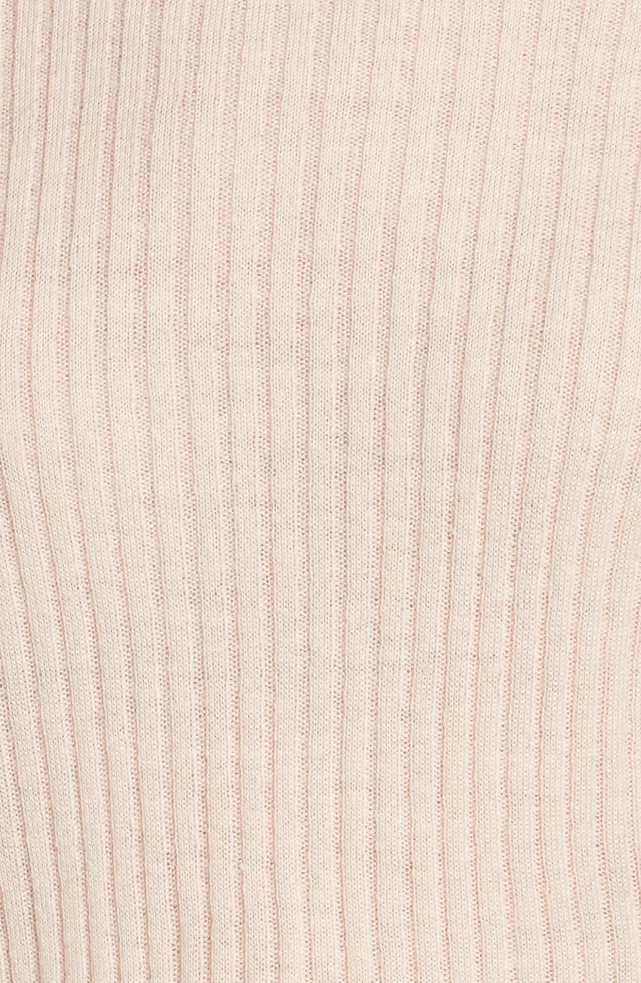 Tiara Bell Sleeve Sweater,                             Alternate thumbnail 5, color,                             Blush