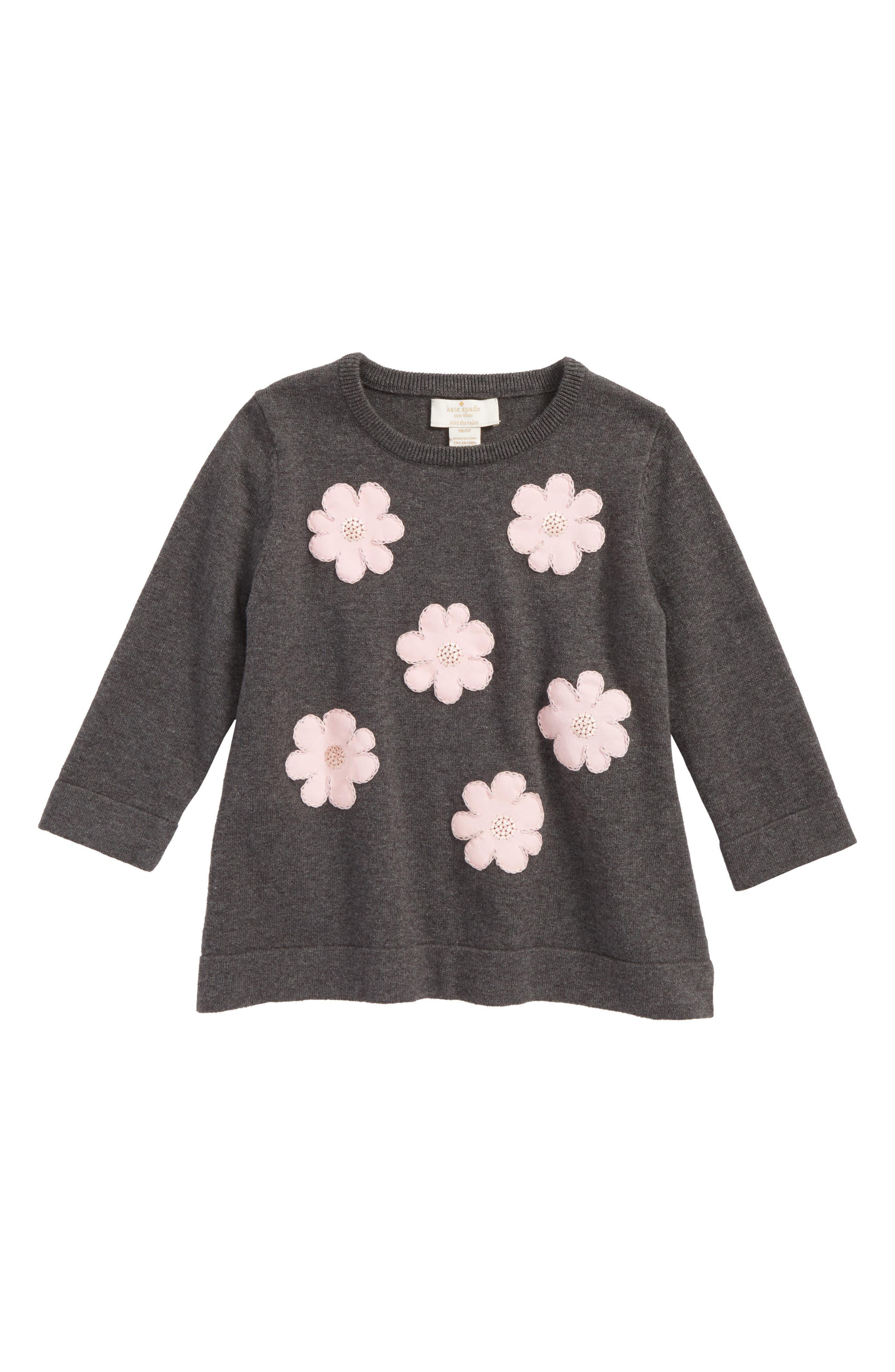 kate spade new york swing sweater (Toddler Girls & Little Girls)