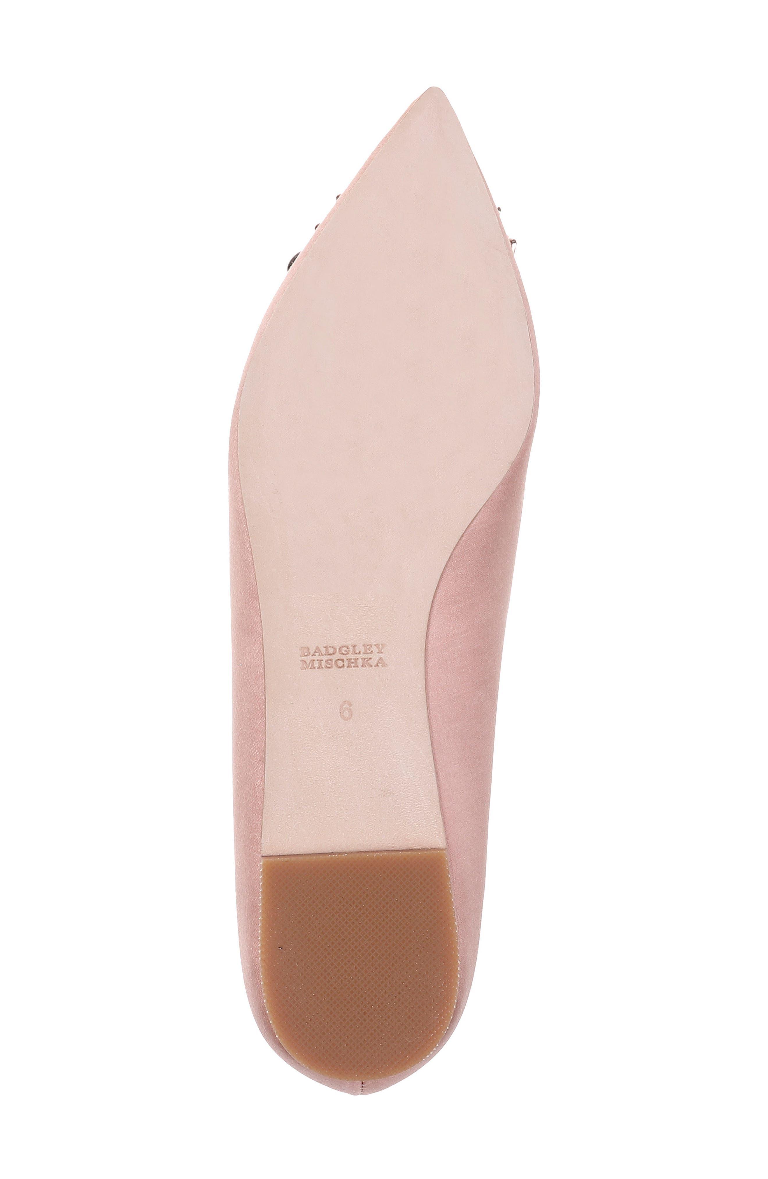Alternate Image 6  - Badgley Mischka 'Davis' Crystal Embellished Pointy Toe Flat (Women)