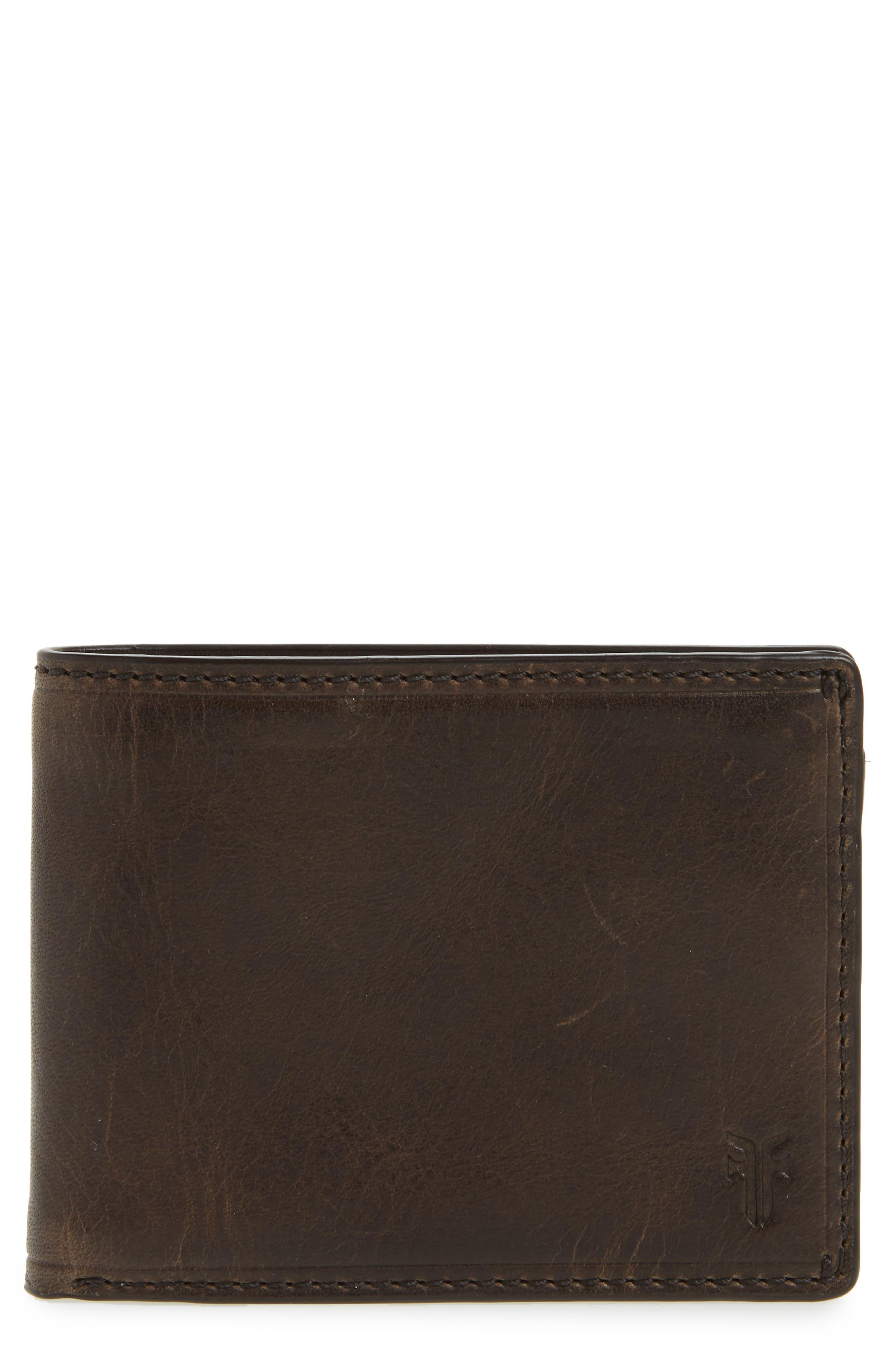 Logan Leather Wallet,                             Main thumbnail 1, color,                             Slate