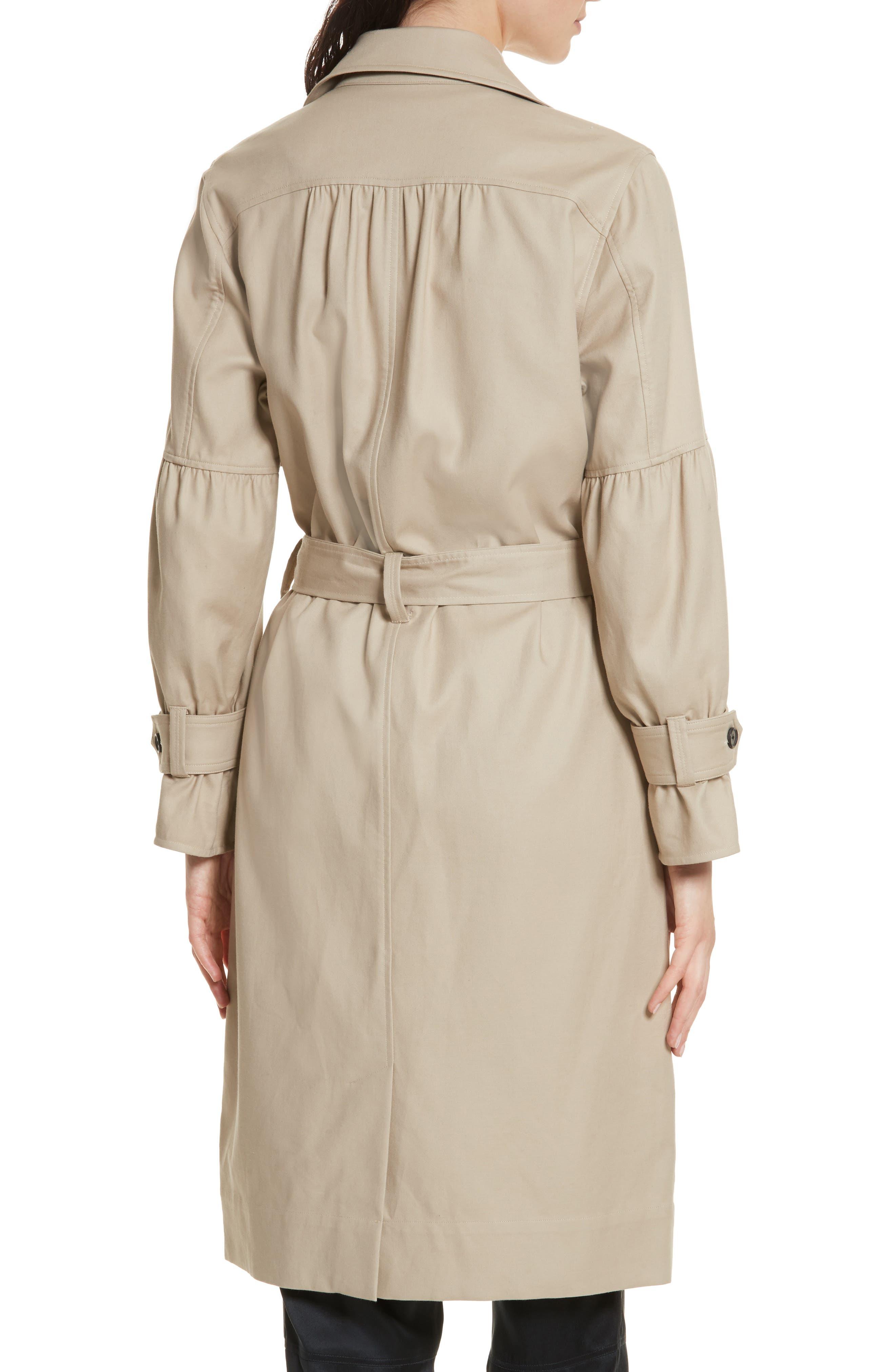 Alwena Cotton Trench Coat,                             Alternate thumbnail 2, color,                             Khaki