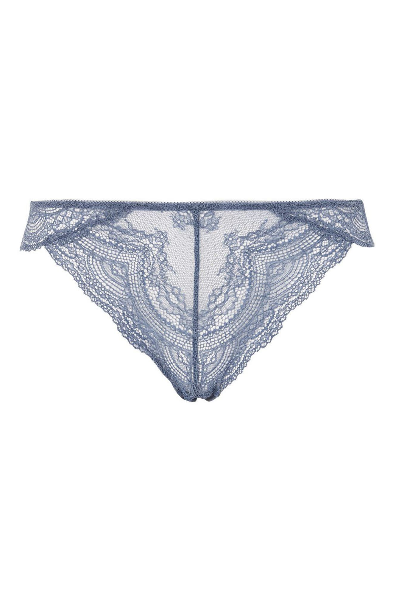 Alternate Image 3  - Topshop Camilla Lace Brazilian Panties