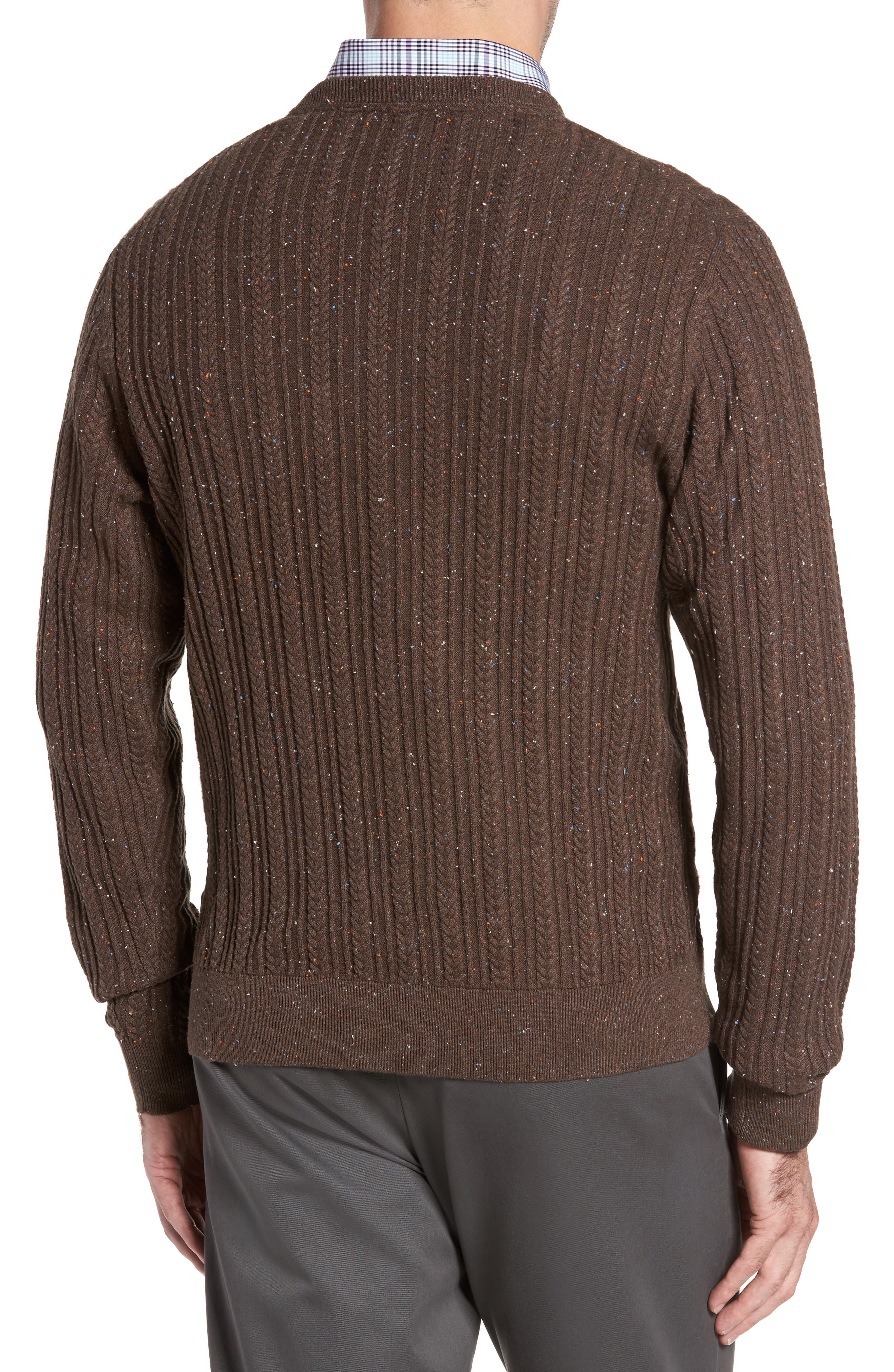 Carlton Crewneck Sweater,                             Alternate thumbnail 2, color,                             Twig