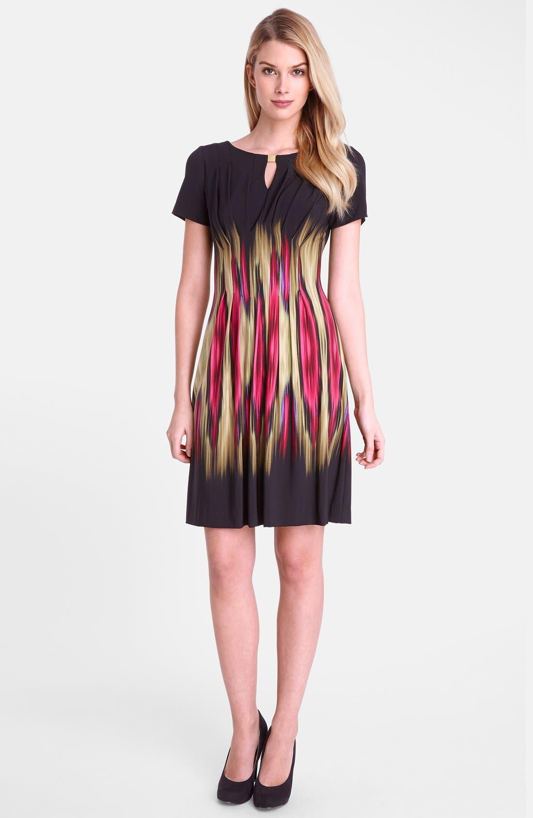 Alternate Image 3  - Tahari 'Blur' Print Split Neck Sheath Dress (Regular & Petite)
